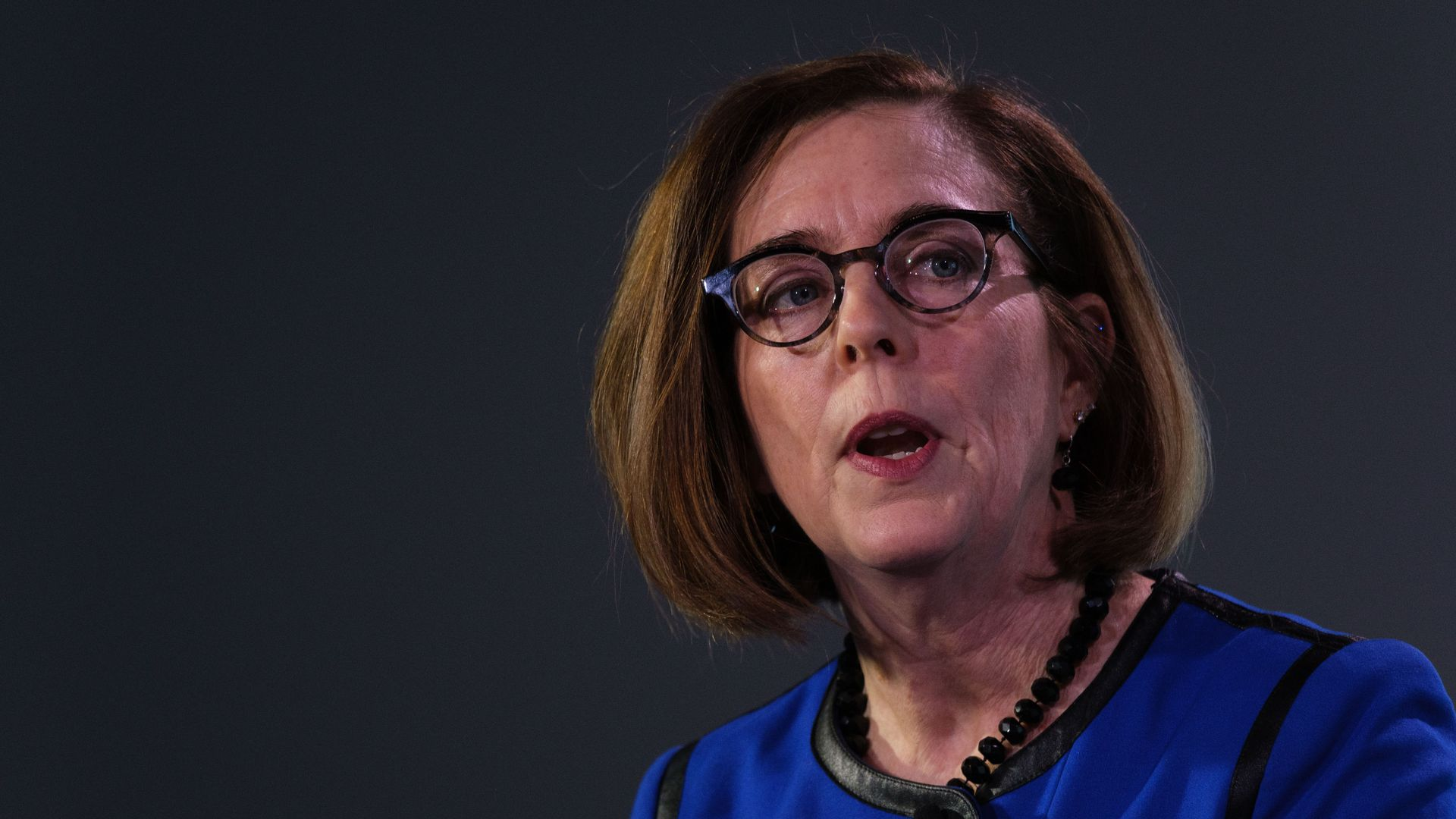 Kate Brown speaks with Axios' Mike Allen
