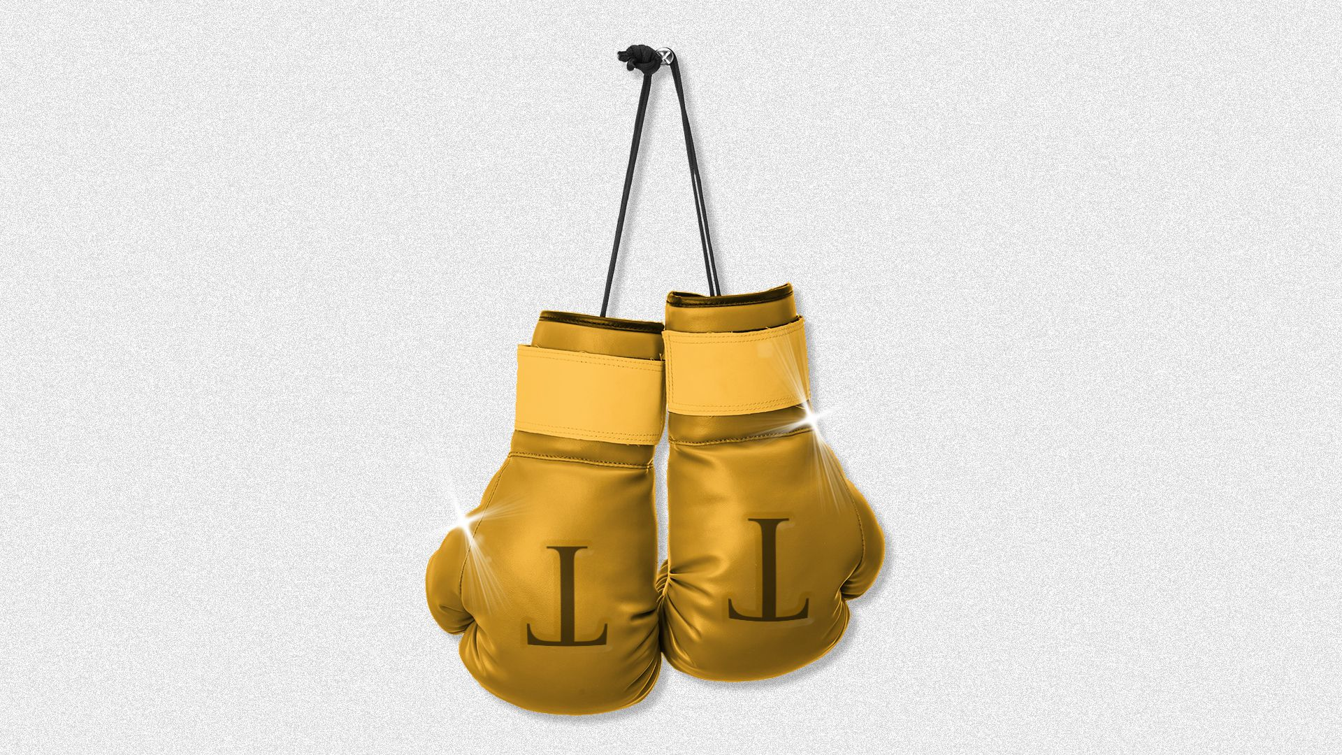 Illustration of golden boxing gloves with a T embossed on the gloves.