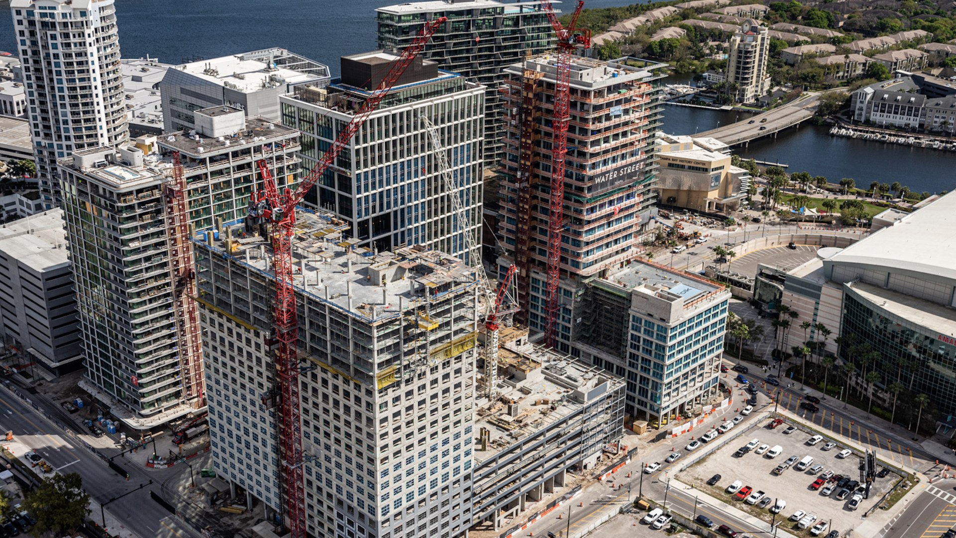 Water Street Tampa under construction