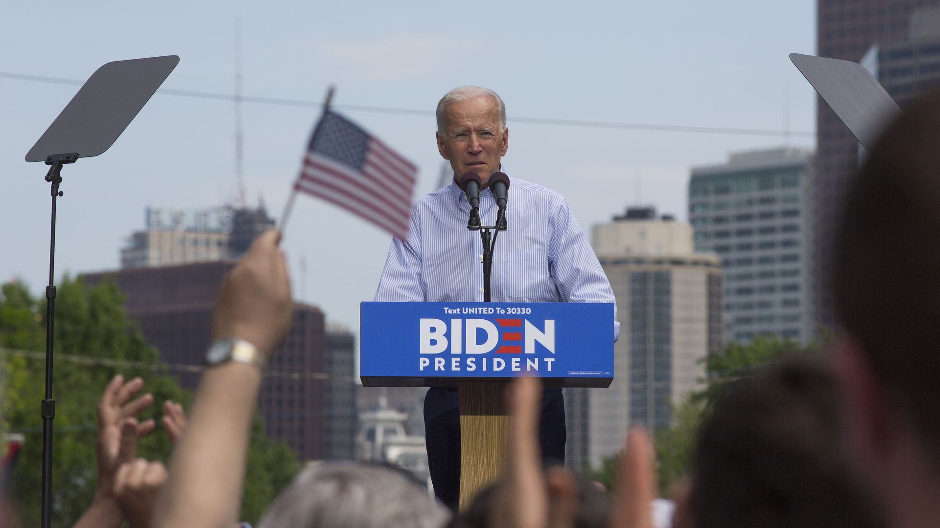 Former Vice President Joe Biden has success with low-dollar donors