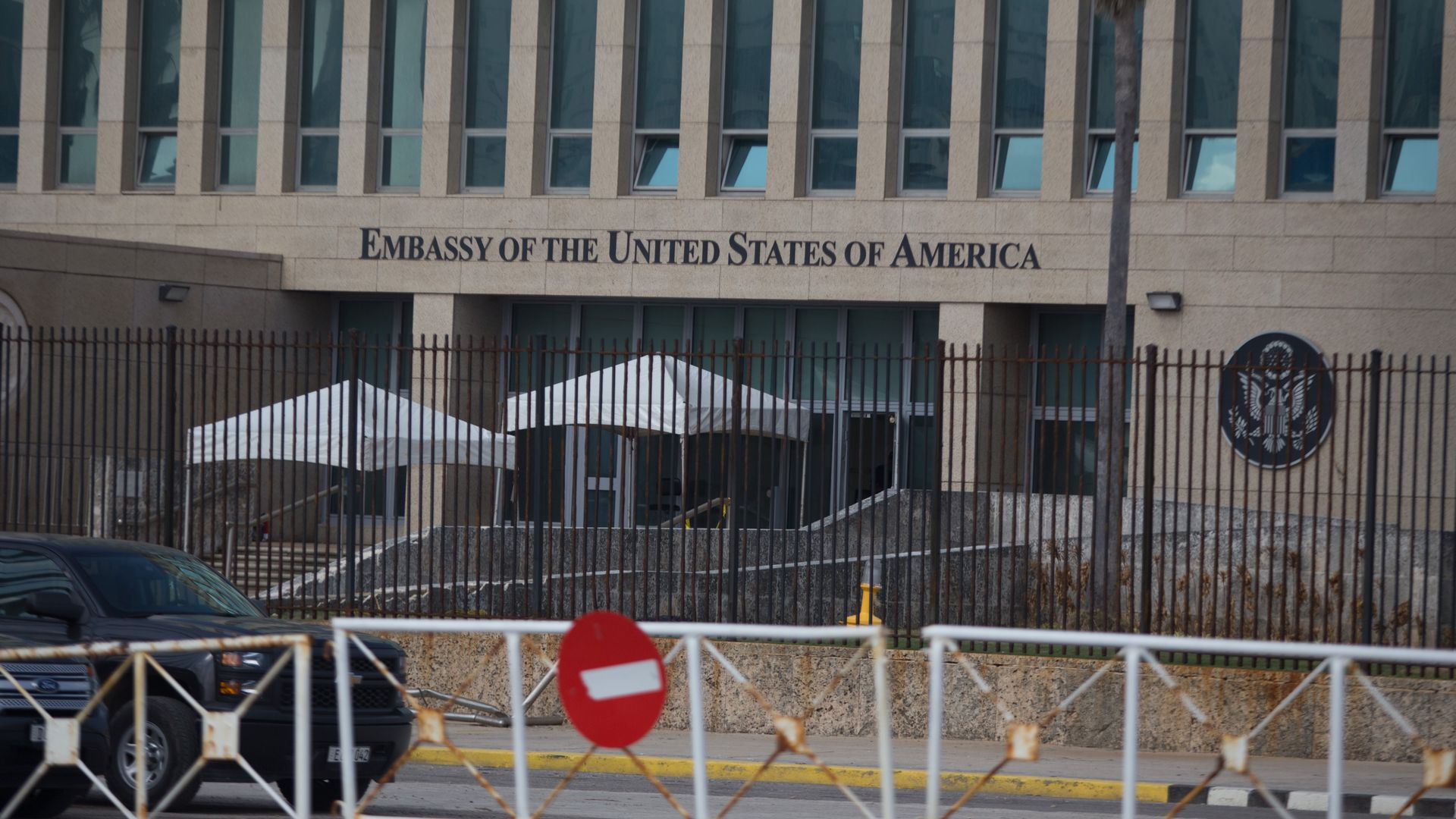 View of U.S. embassy in Cuba