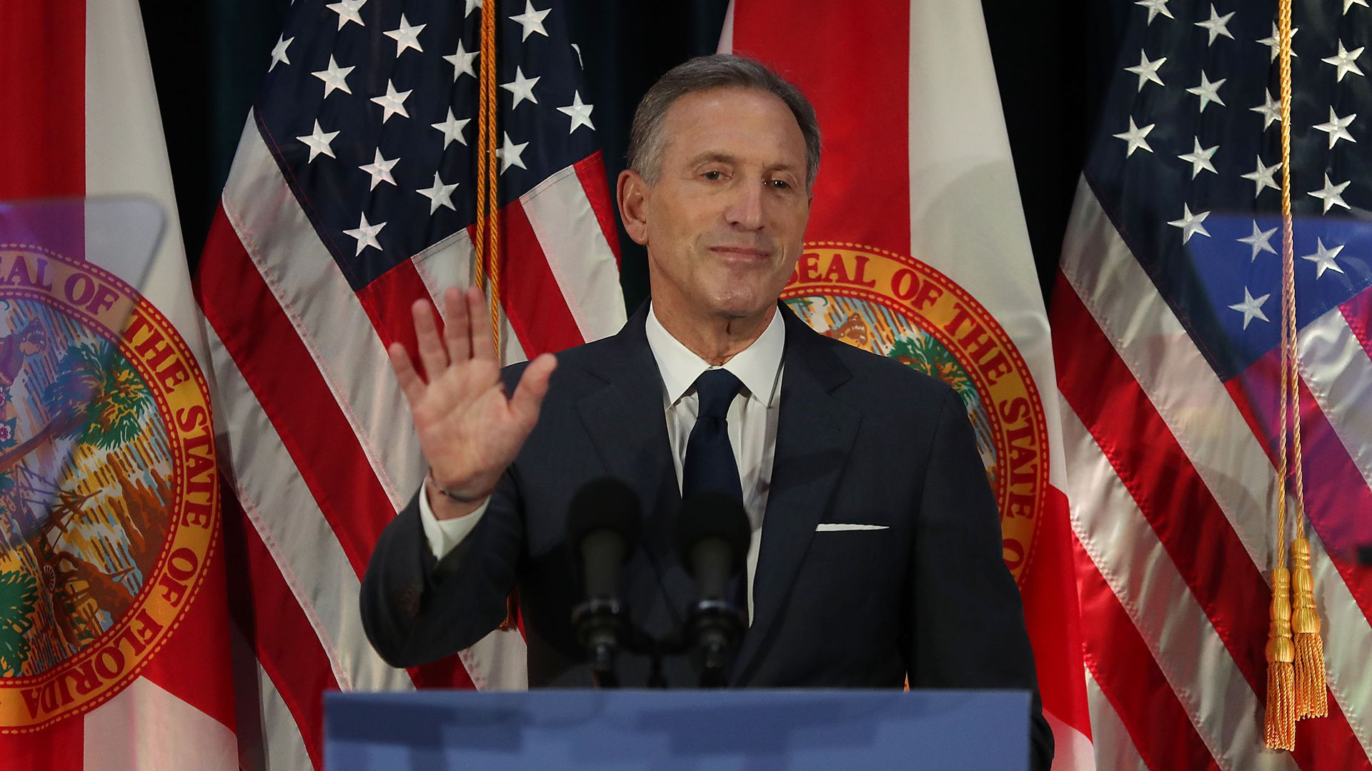 Former Starbucks CEO Howard Schultz speaks at Miami Dade College in March