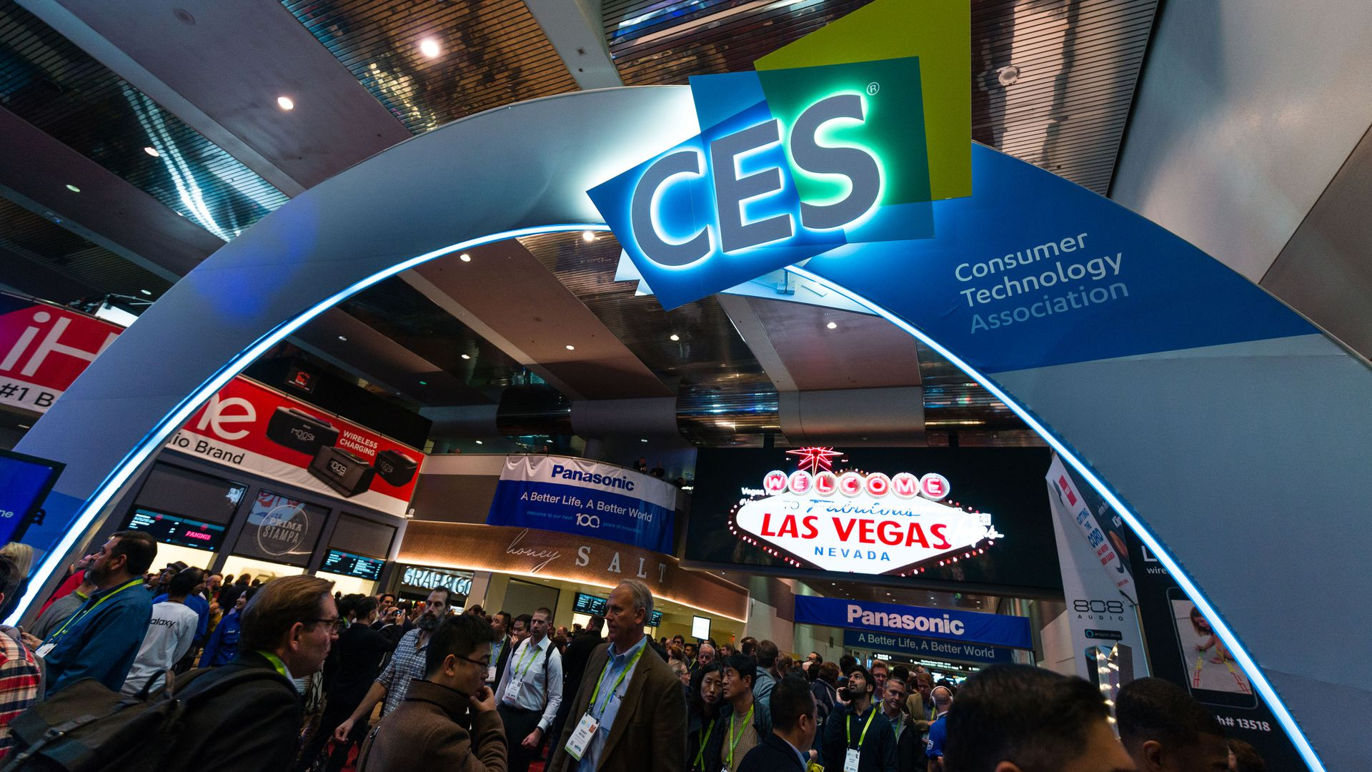 The show floor at CES 2018.