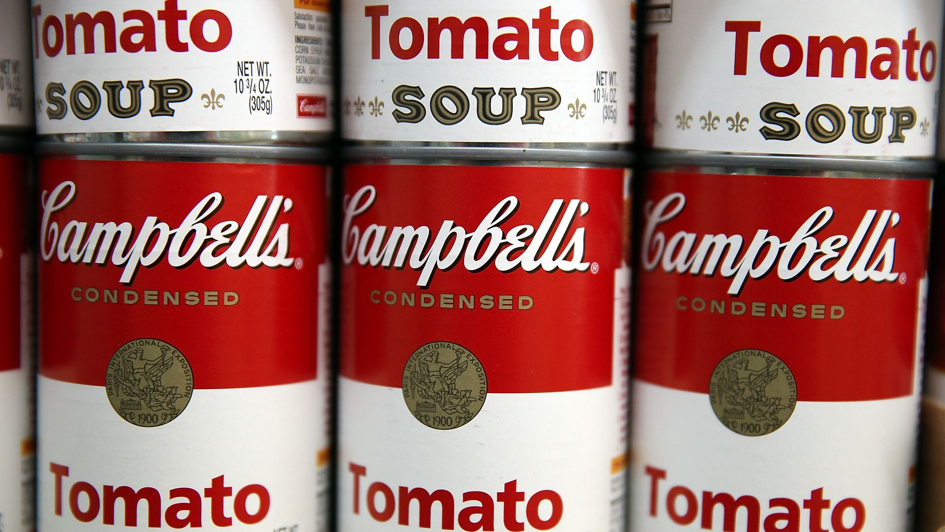 Cans of Campbell's Soup.