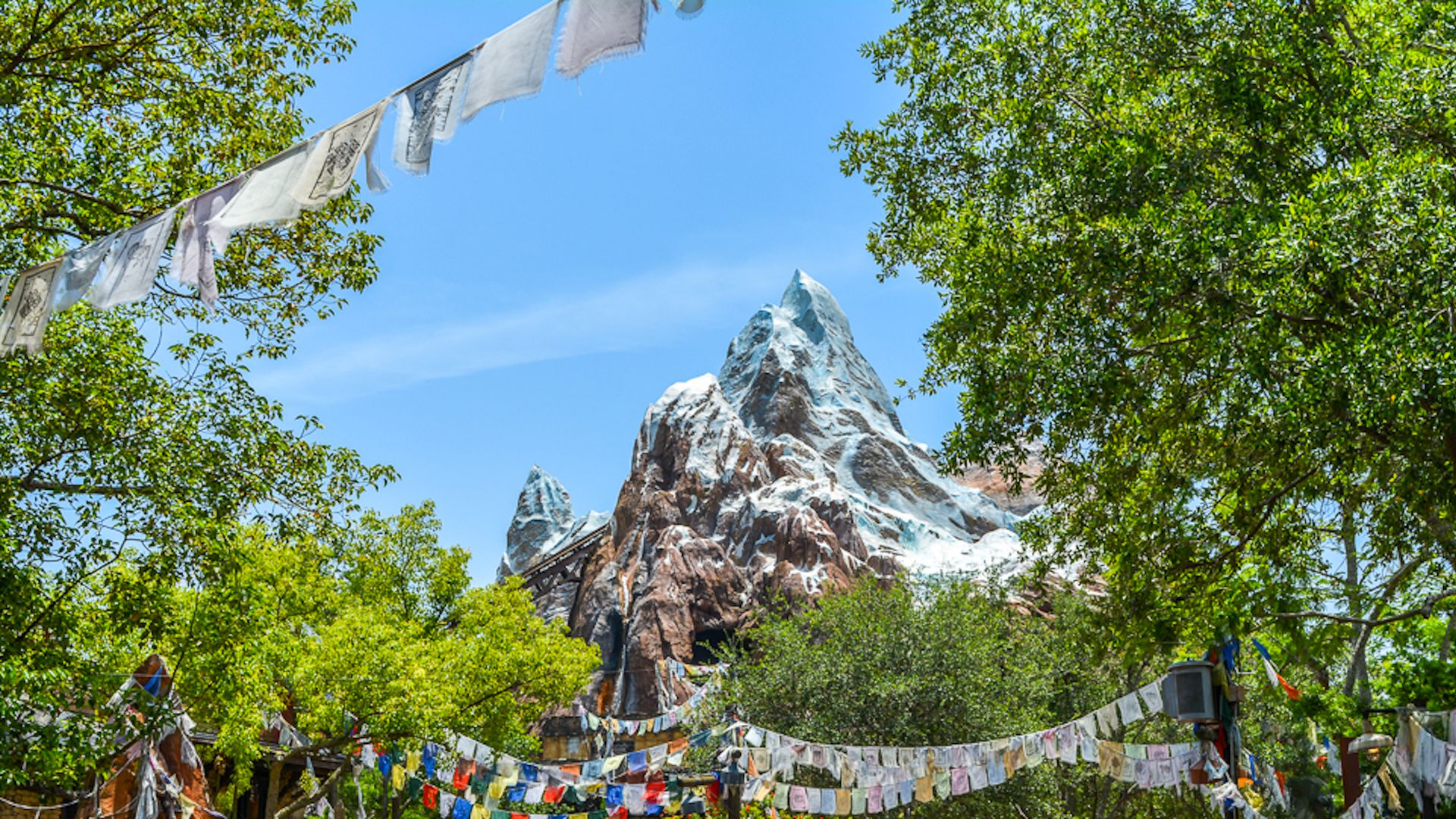 A photo of Disney's Everest roller coaster.