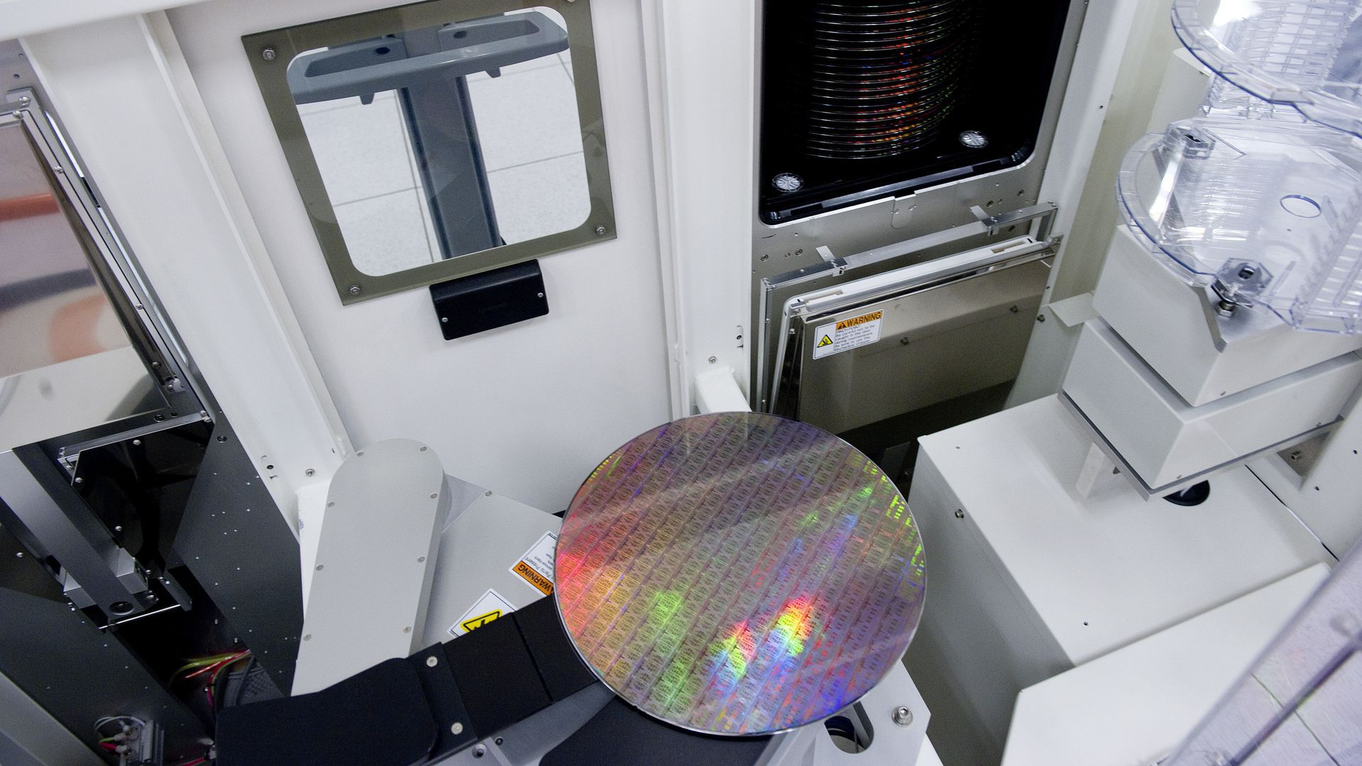 Manufacturing a semiconductor wafer.