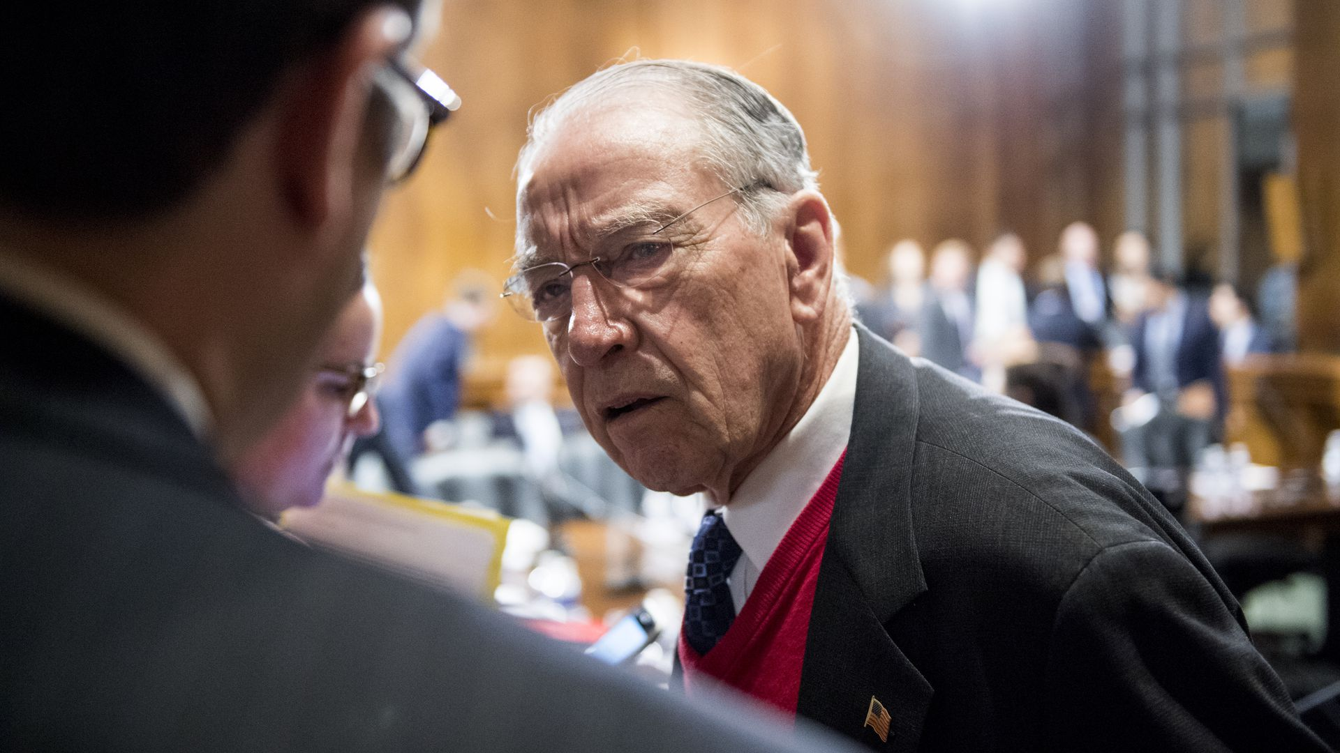 CHuck Grassley looking confused