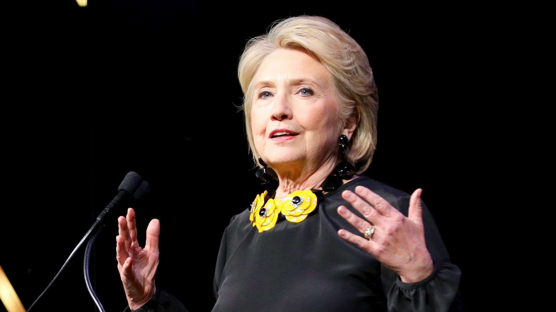 Hillary Clinton says she will continue to speak out on issues.