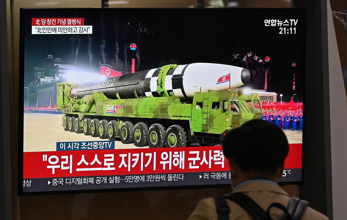 North Korea unveils new ballistic missile during military parade thumbnail