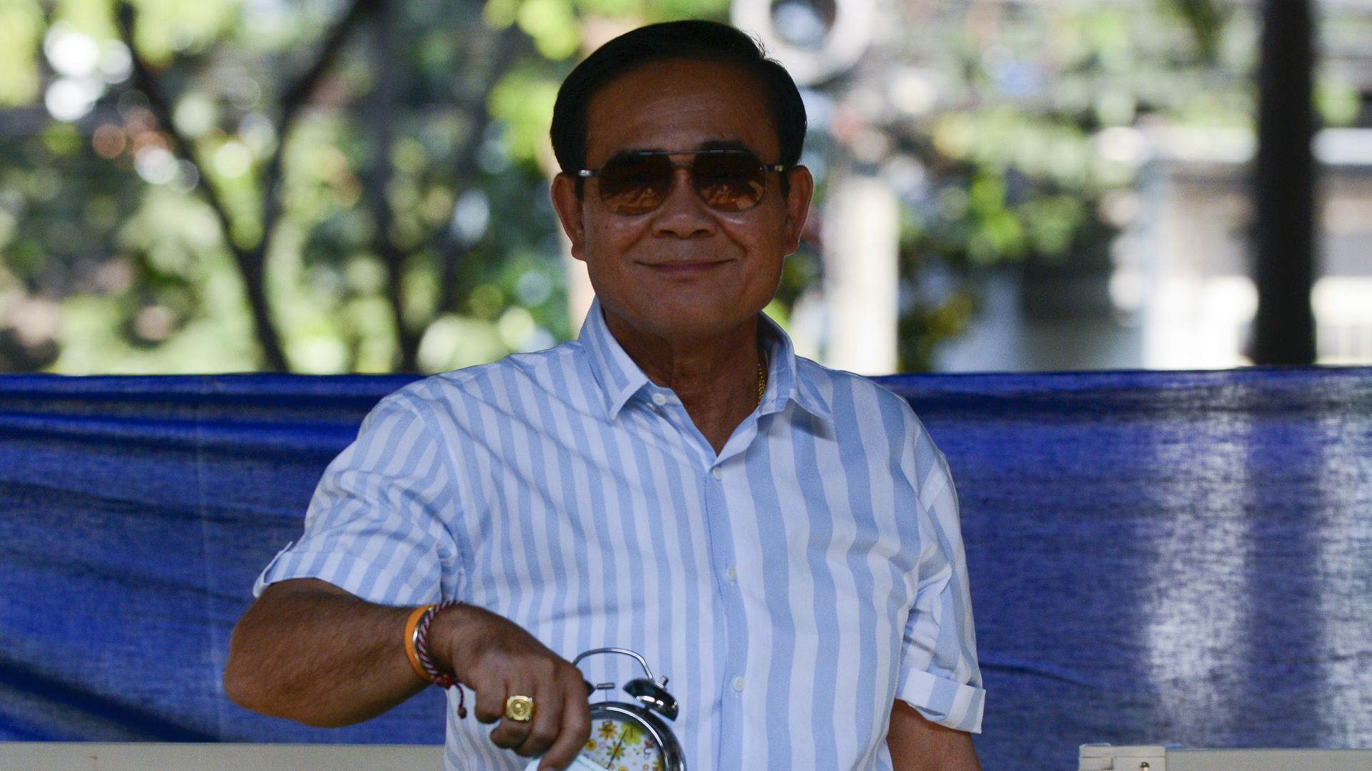 Thailand's Prime Minister Prayuth Chan-Ocha casting his vote.