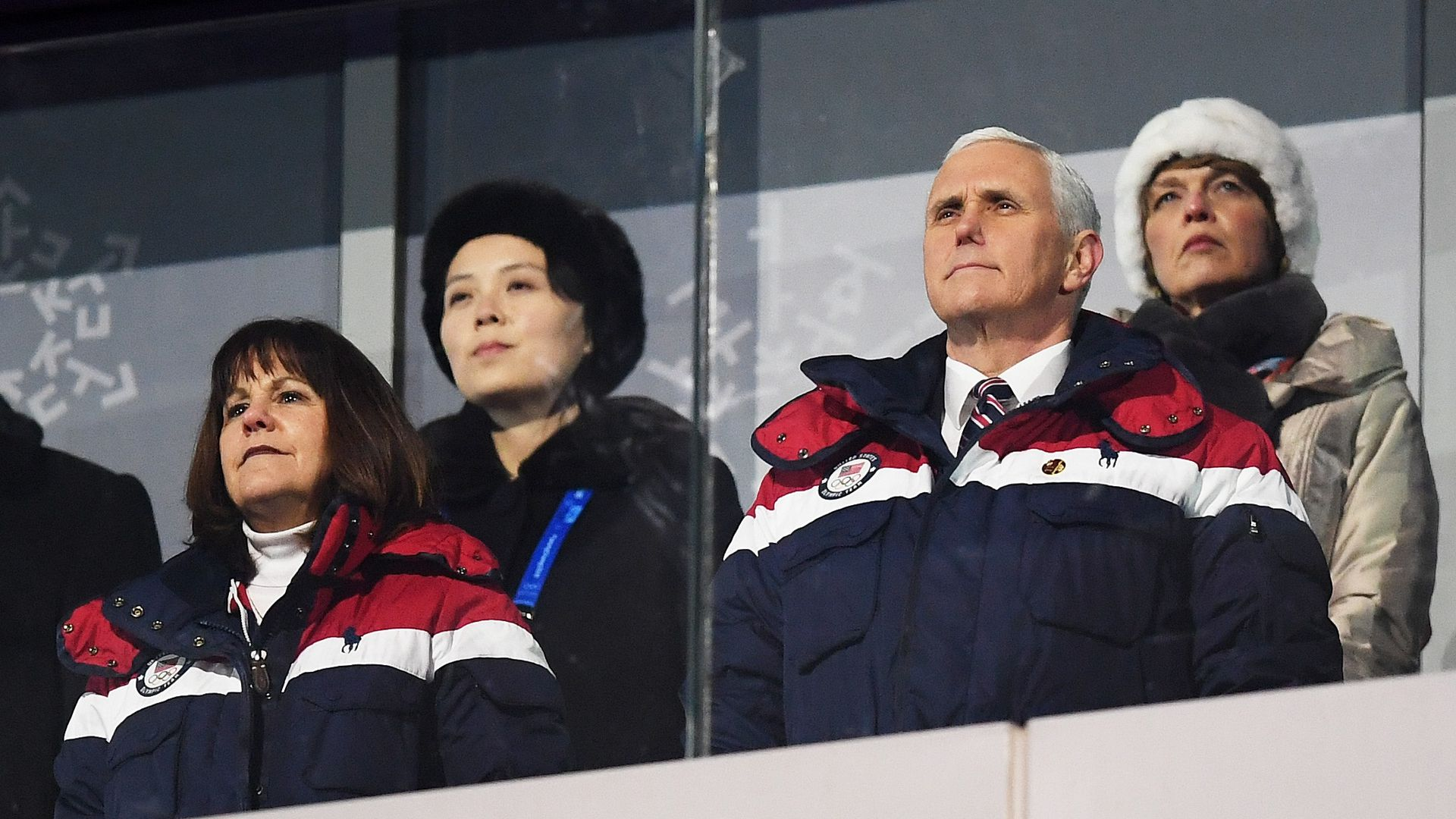 Mike Pence at the Winter Olympics in South Korea