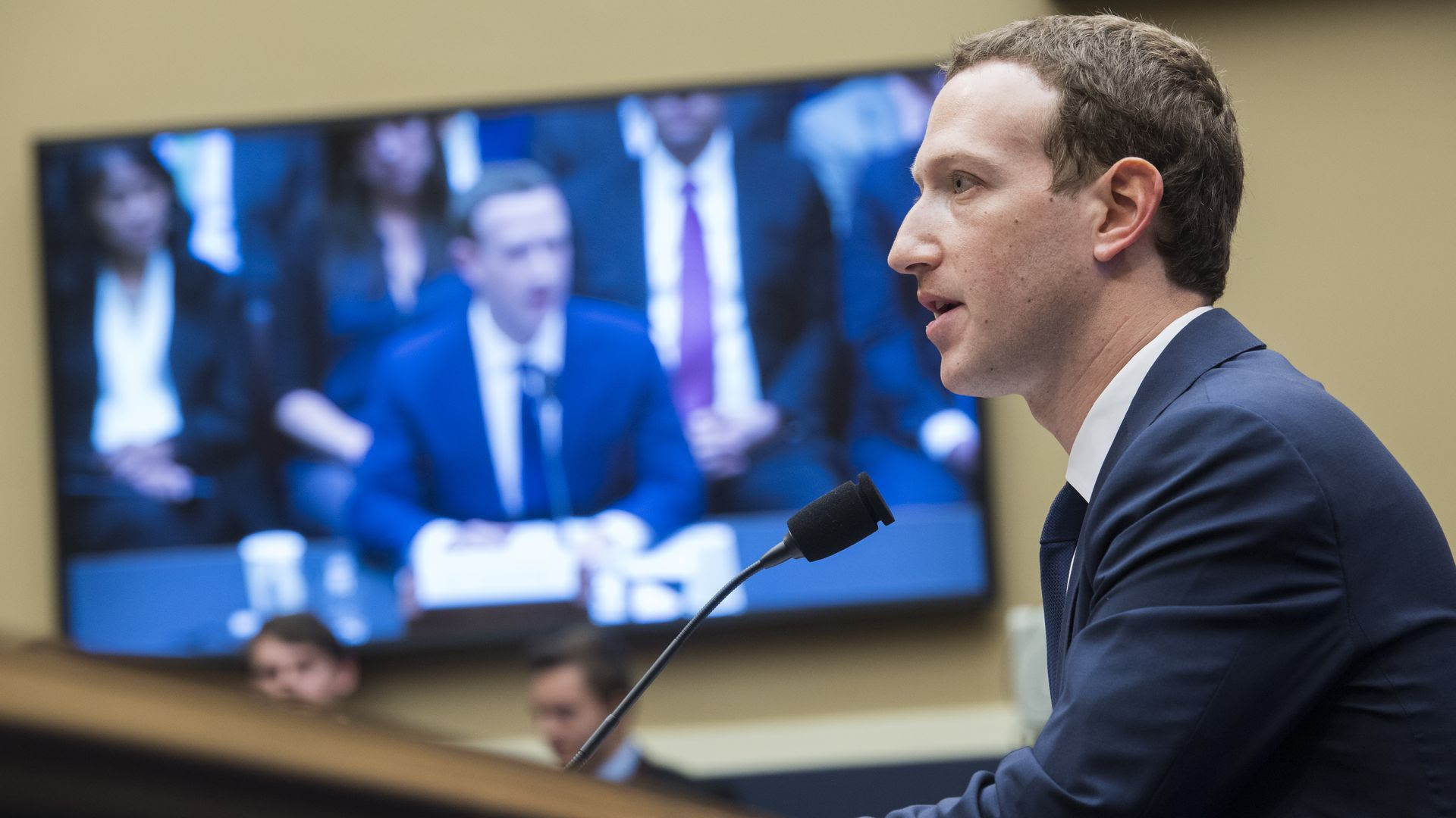 MArk Zuckerberg testifying
