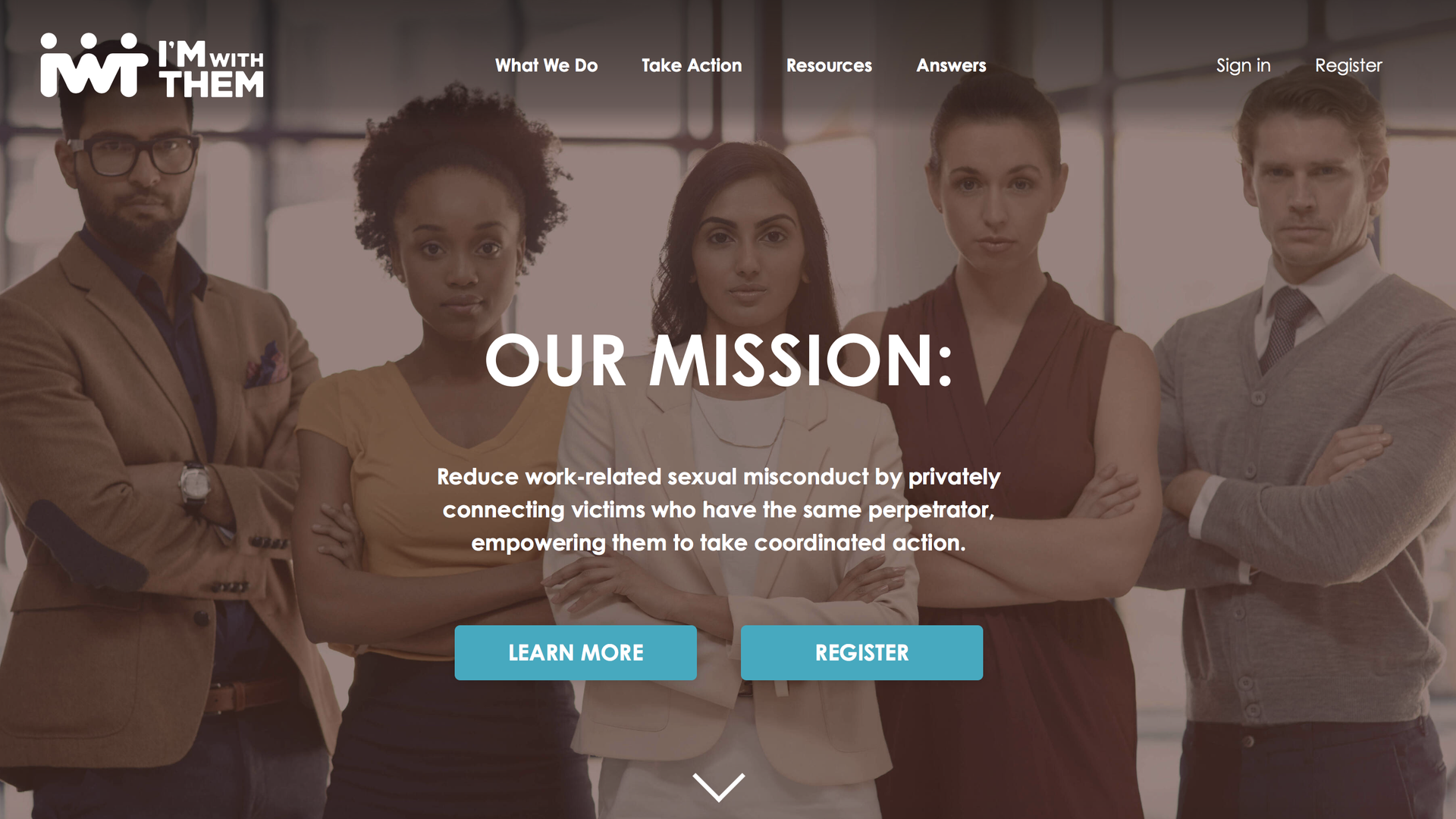 Homepage of Imwiththem.org