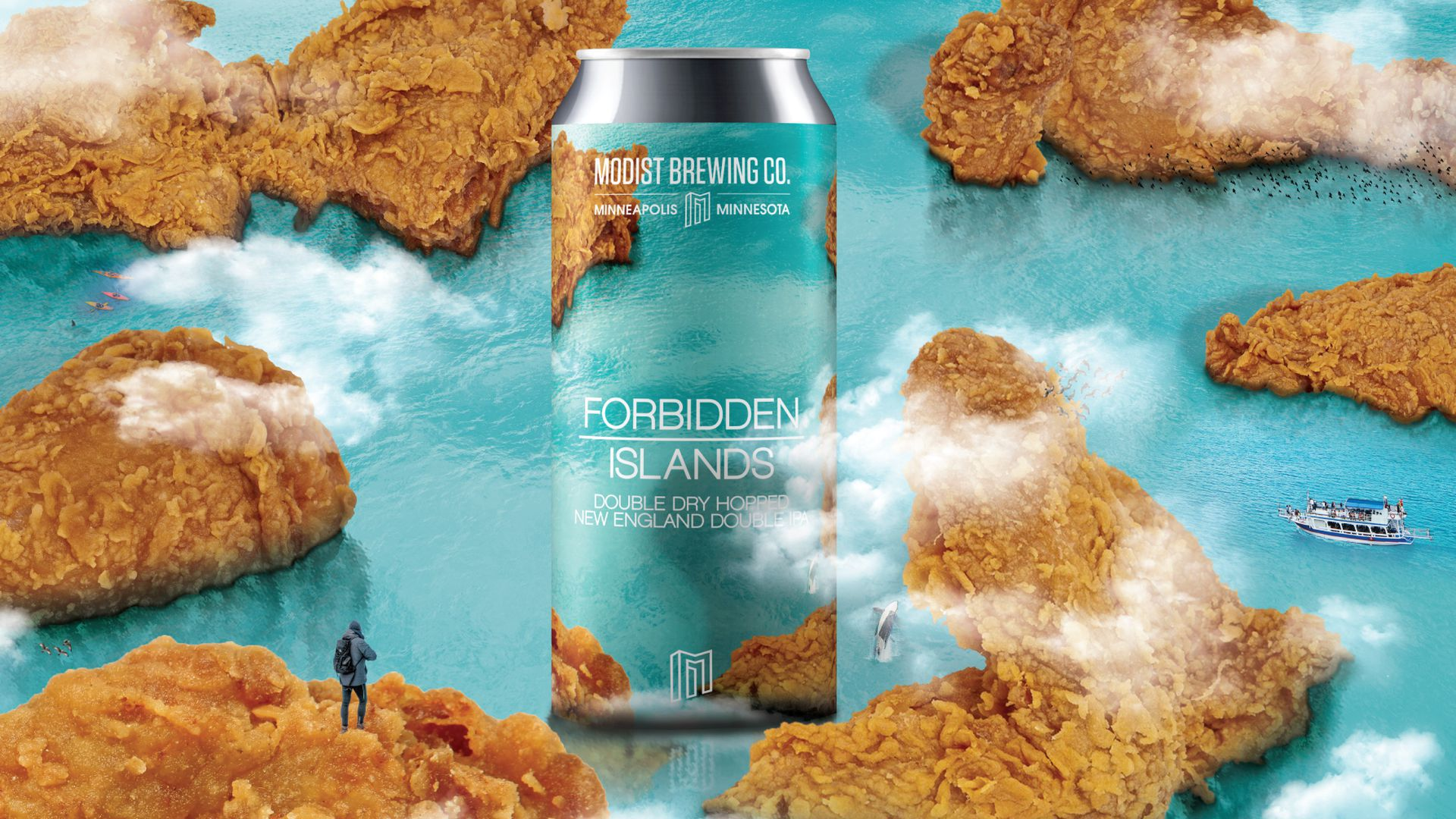 The art for Forbidden Islands New England IPA. Image courtesy of Modist Brewing