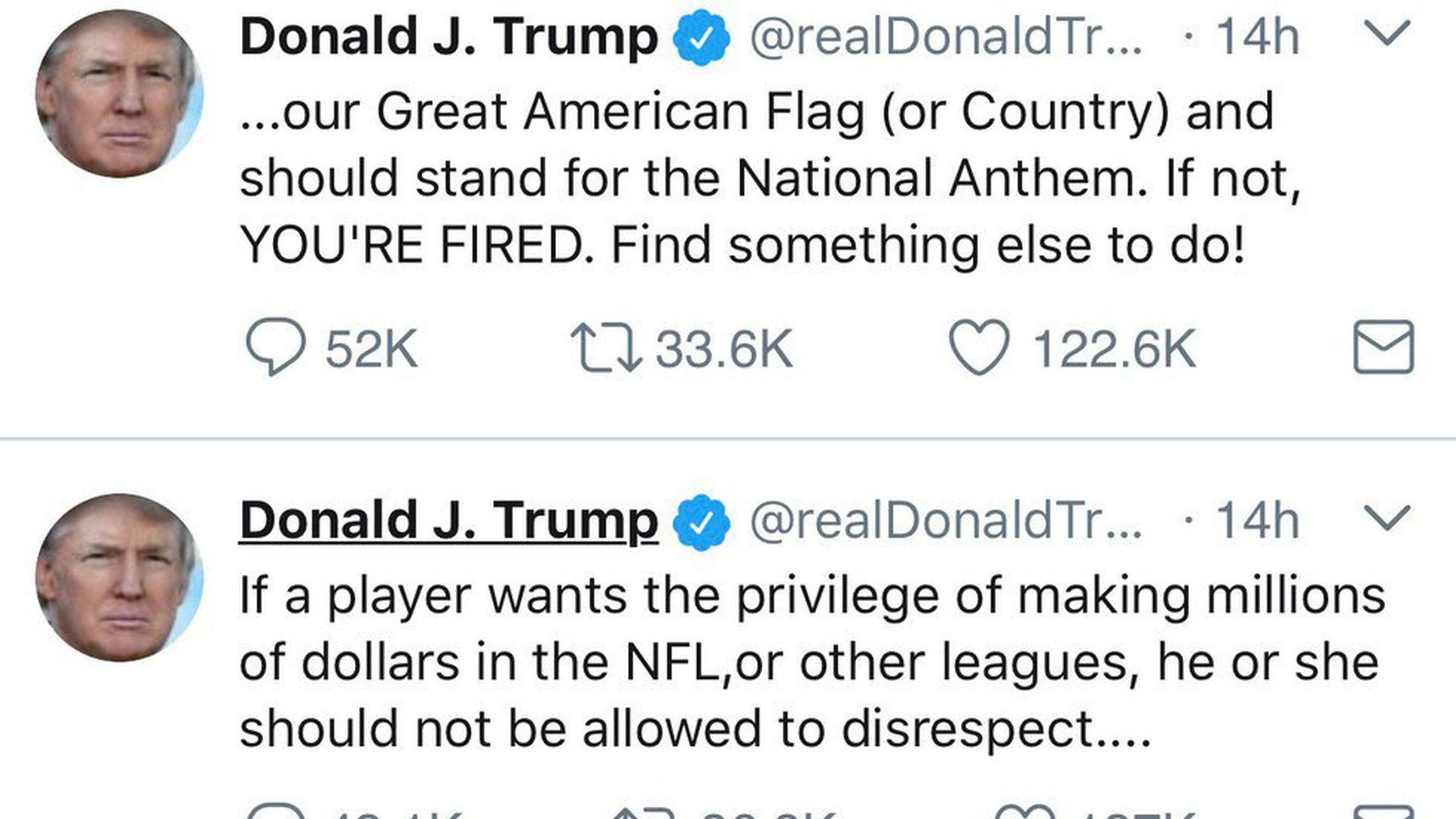 What Trump, the NFL are thinking