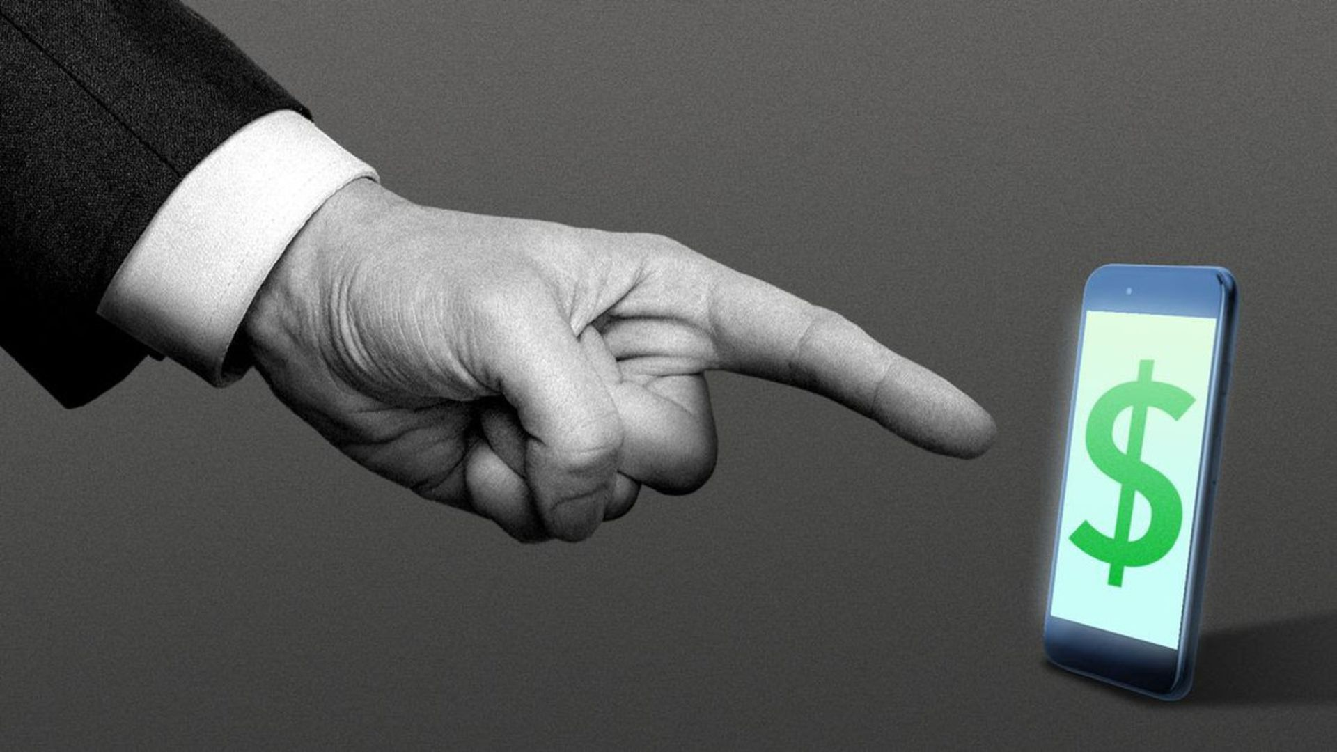 illustration of a finge rpointing at a phone