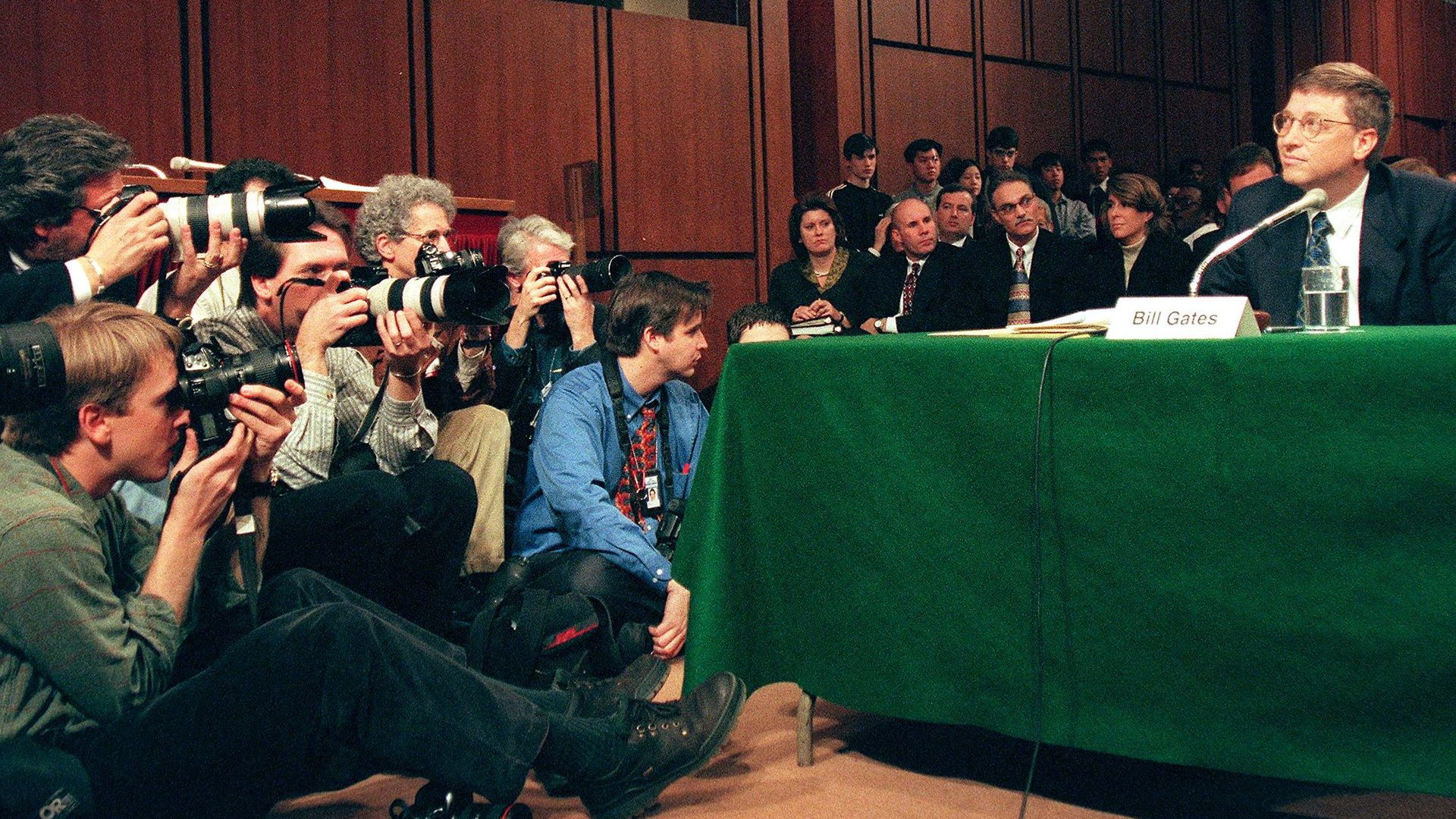 Bill Gates testifying in the 1990s
