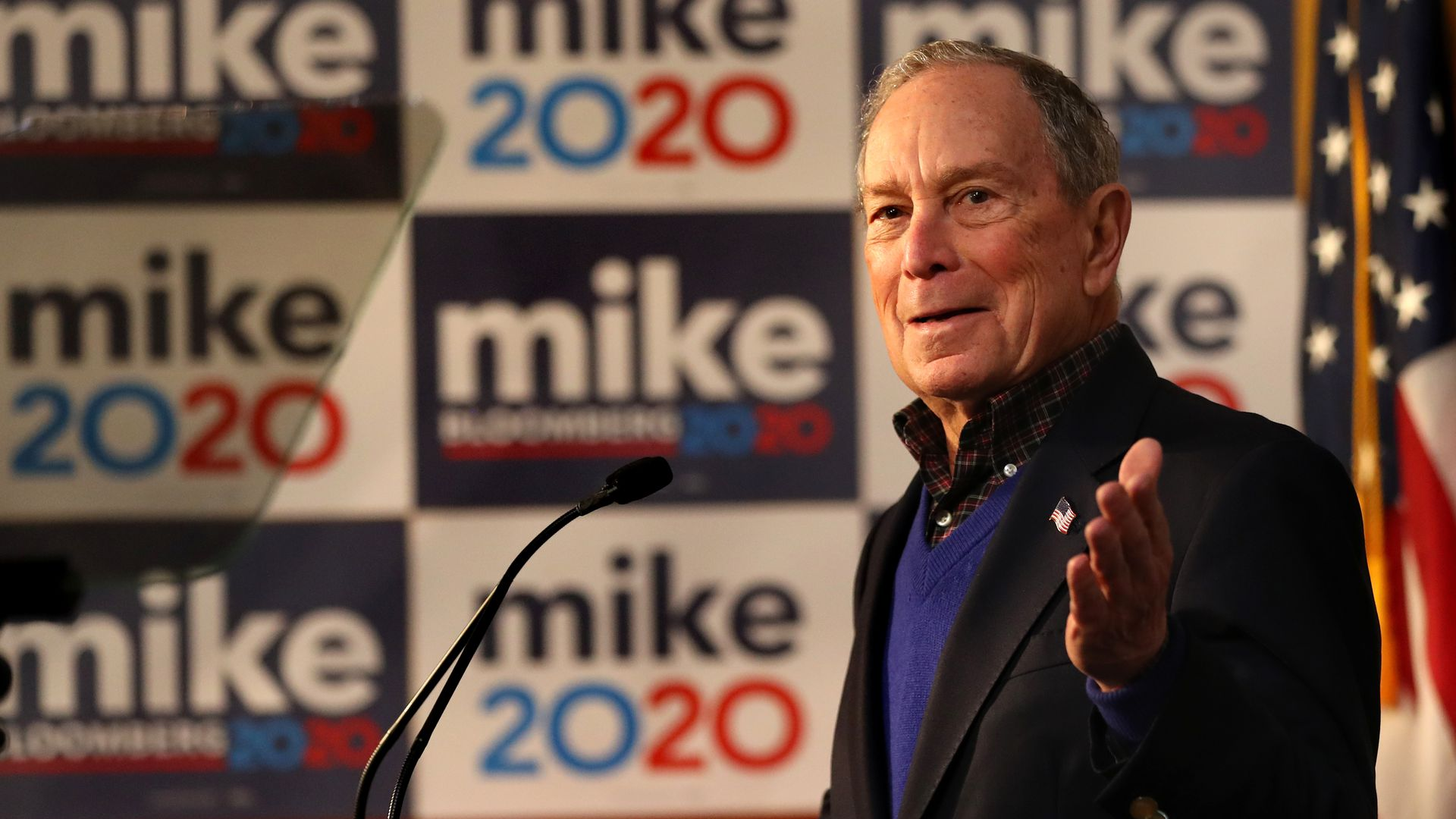 Presidential candidate Michael Bloomberg