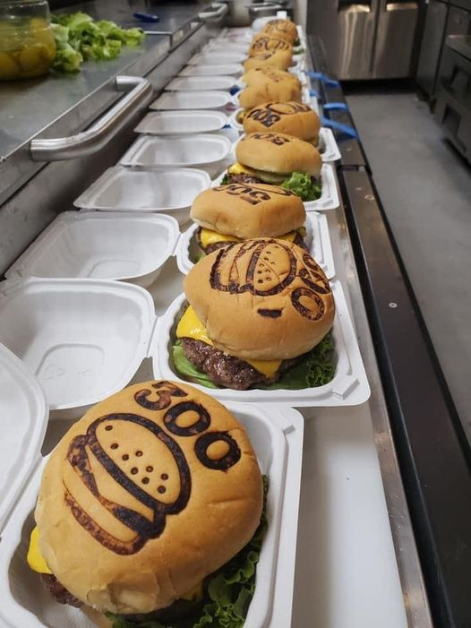 A photo of burgers from 300 Burger in Des Moines.