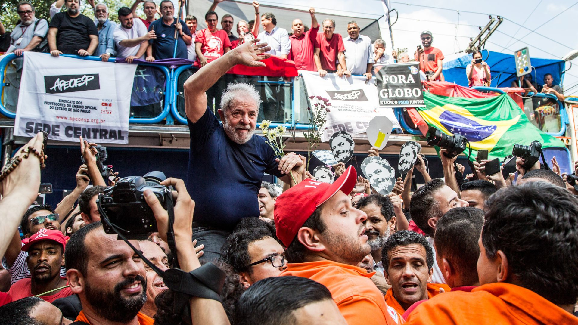 Image result for Lula in prison images