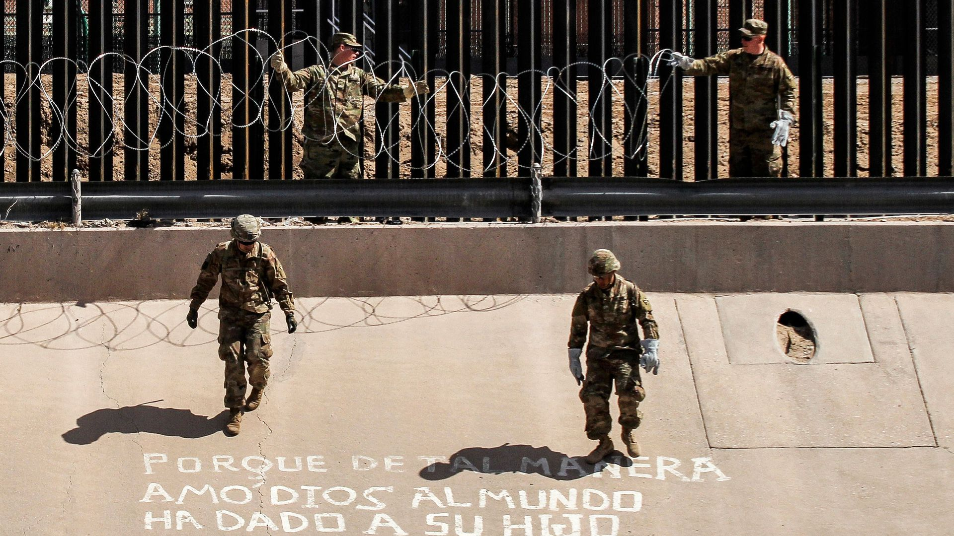 U.S. troops at the Southern border.