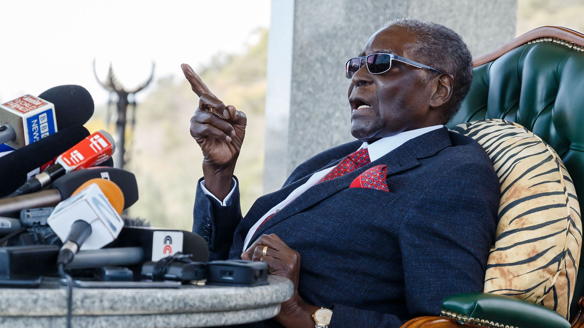 Former Zimbabwean President Robert Mugabe. Photo: Jekesai Njikizana/AFP/Getty Images