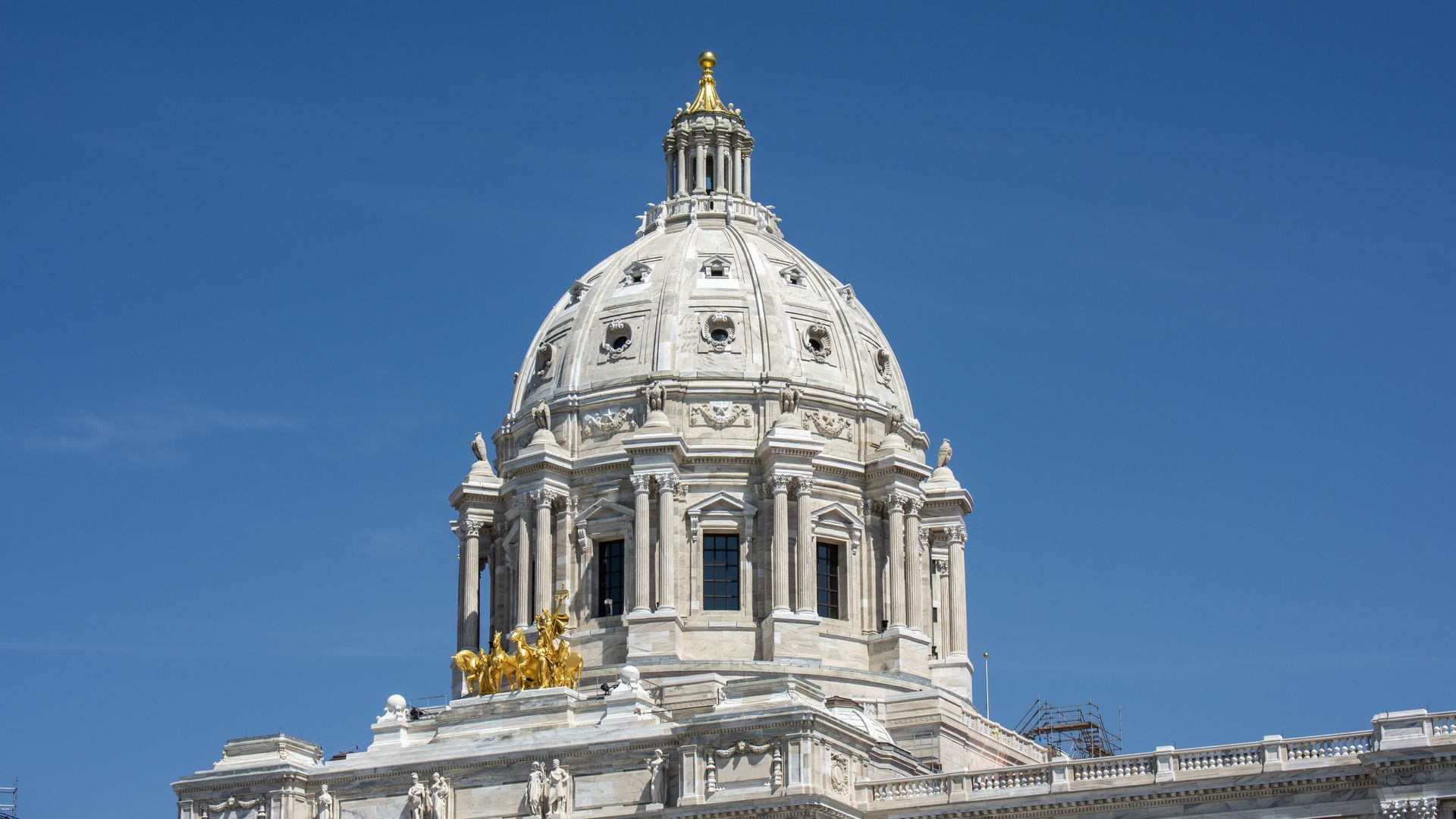 A dome atop the state capitol
