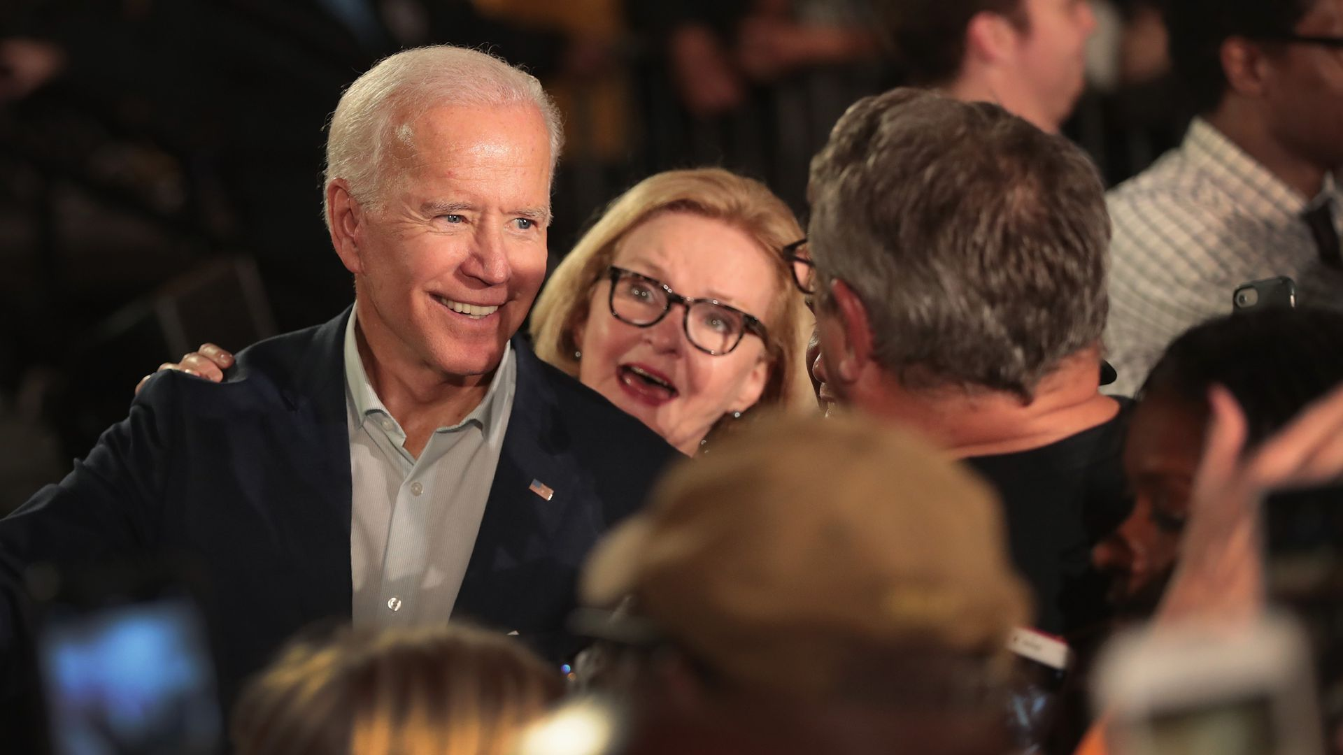 Joe Biden with Sen. Claire McCaskill. Photo: Scott Olson/Getty Images