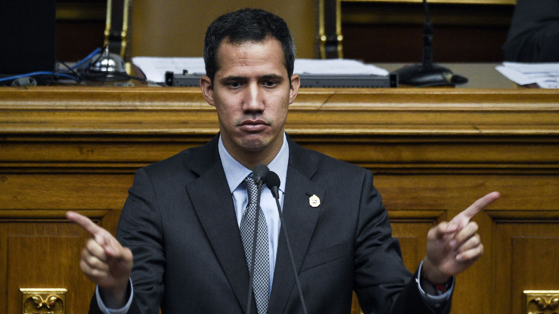 "Juan Guaido plans to call for a ""state of national emergency"" Monday."