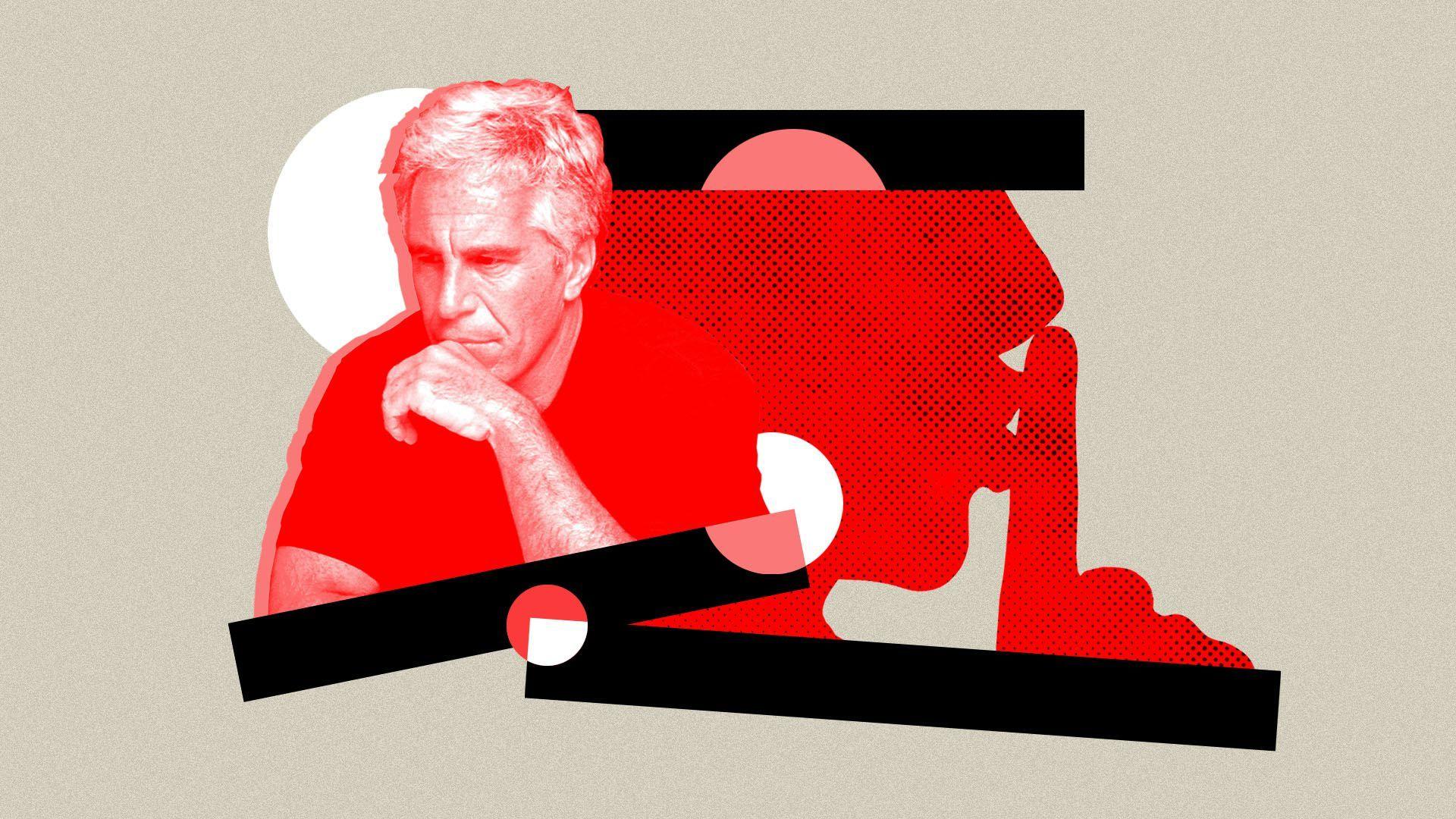 Jeffrey Epstein photo illustration