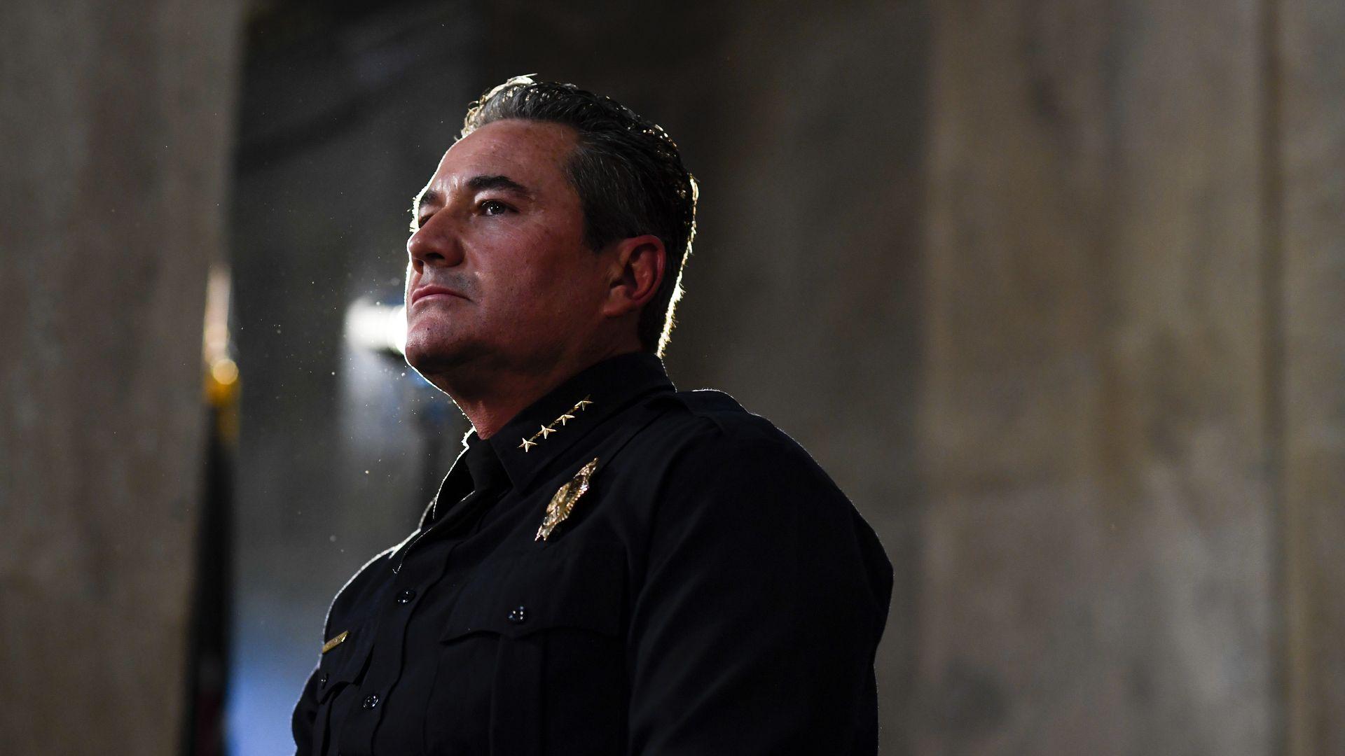 A photo of Denver police chief Paul Pazen