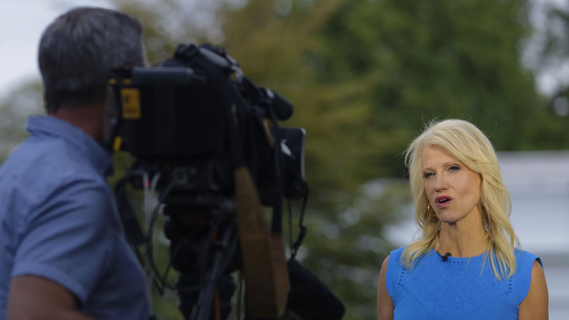 Kellyanne Conway gives an interview