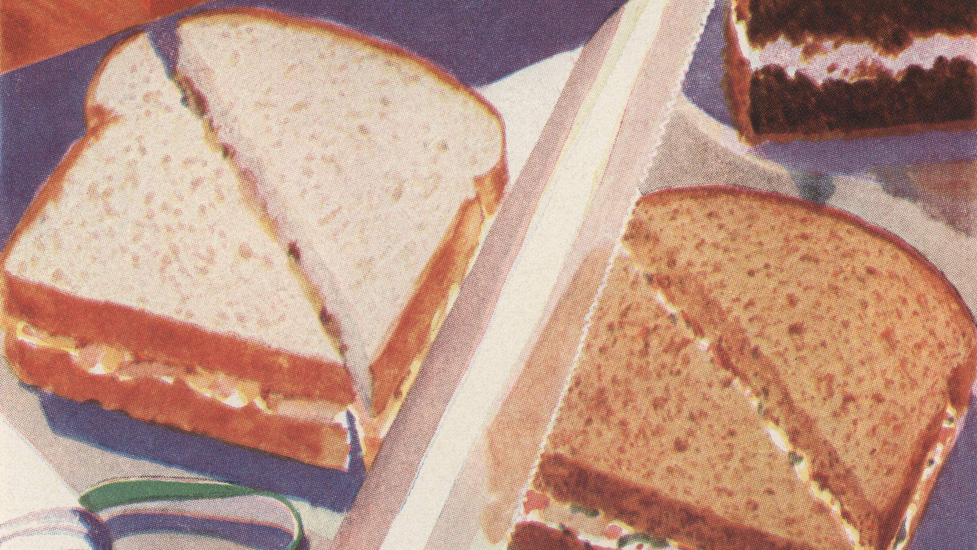 illustration of lunch sandwiches.