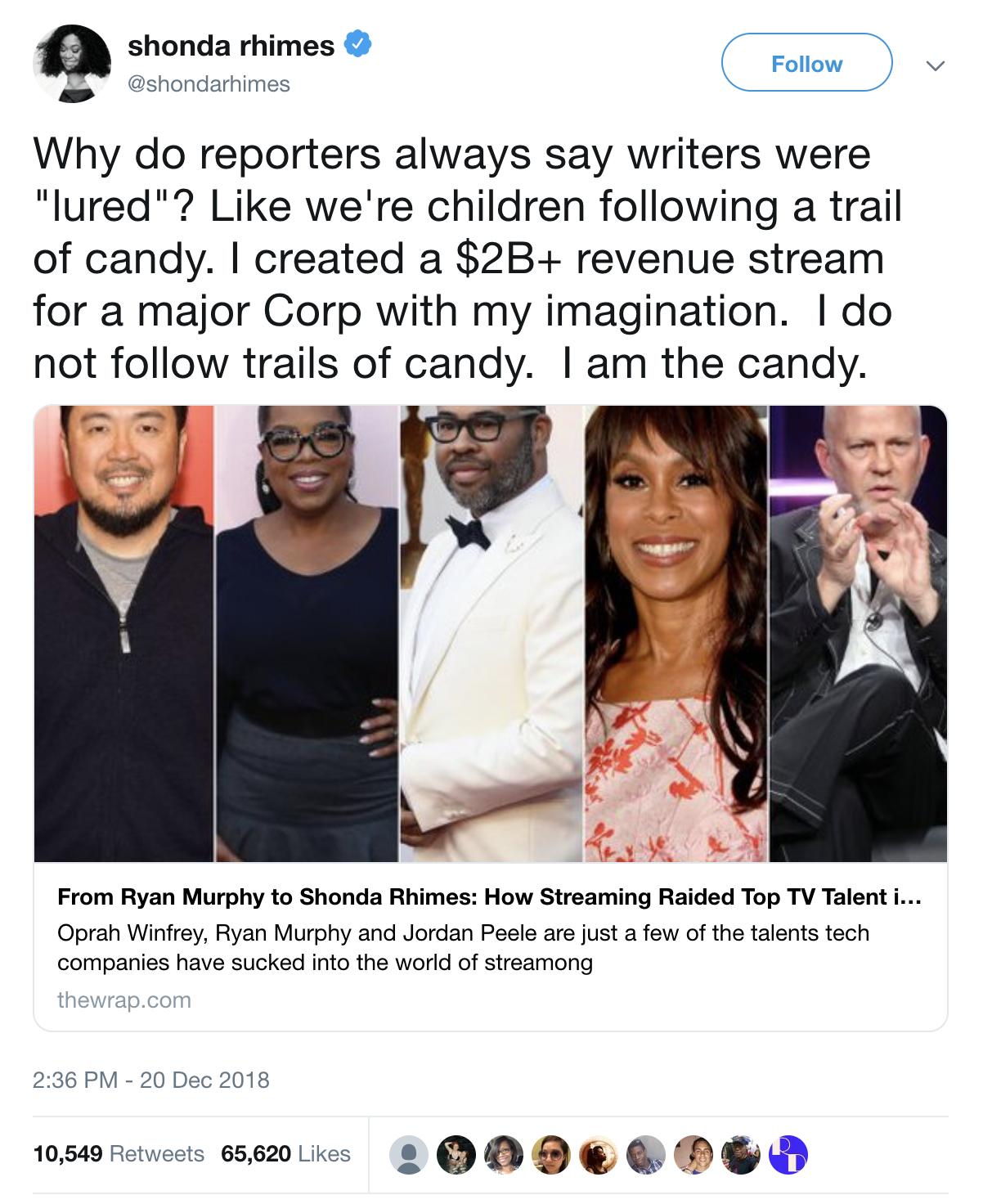 Shonda Rhimes on Twitter