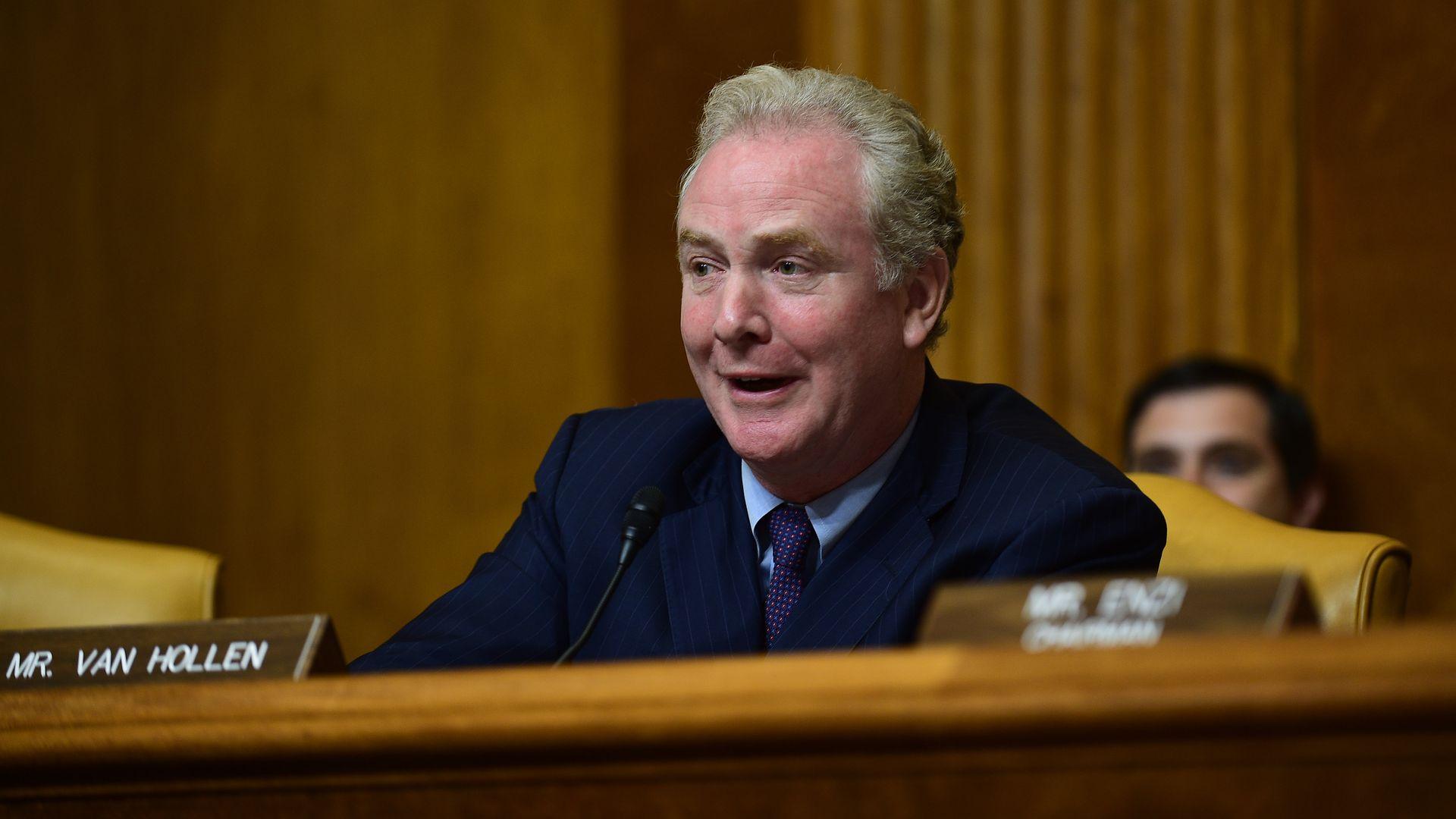 Sen. Chris Van Hollen at a committee hearing