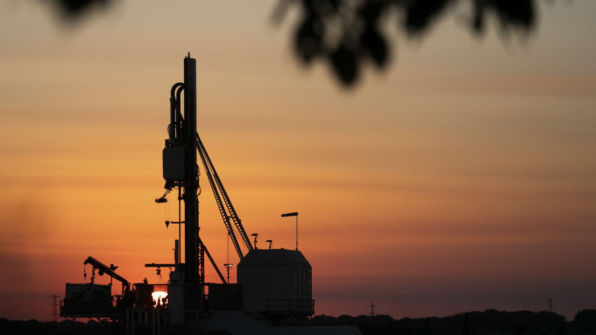 A fracking site.