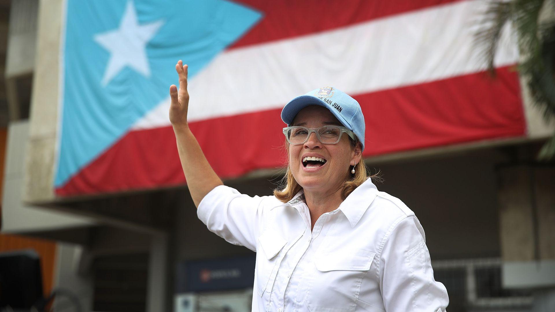 San Juan Mayor Carmen Yulin Cruz during Hurricane Maria recovery in 2017