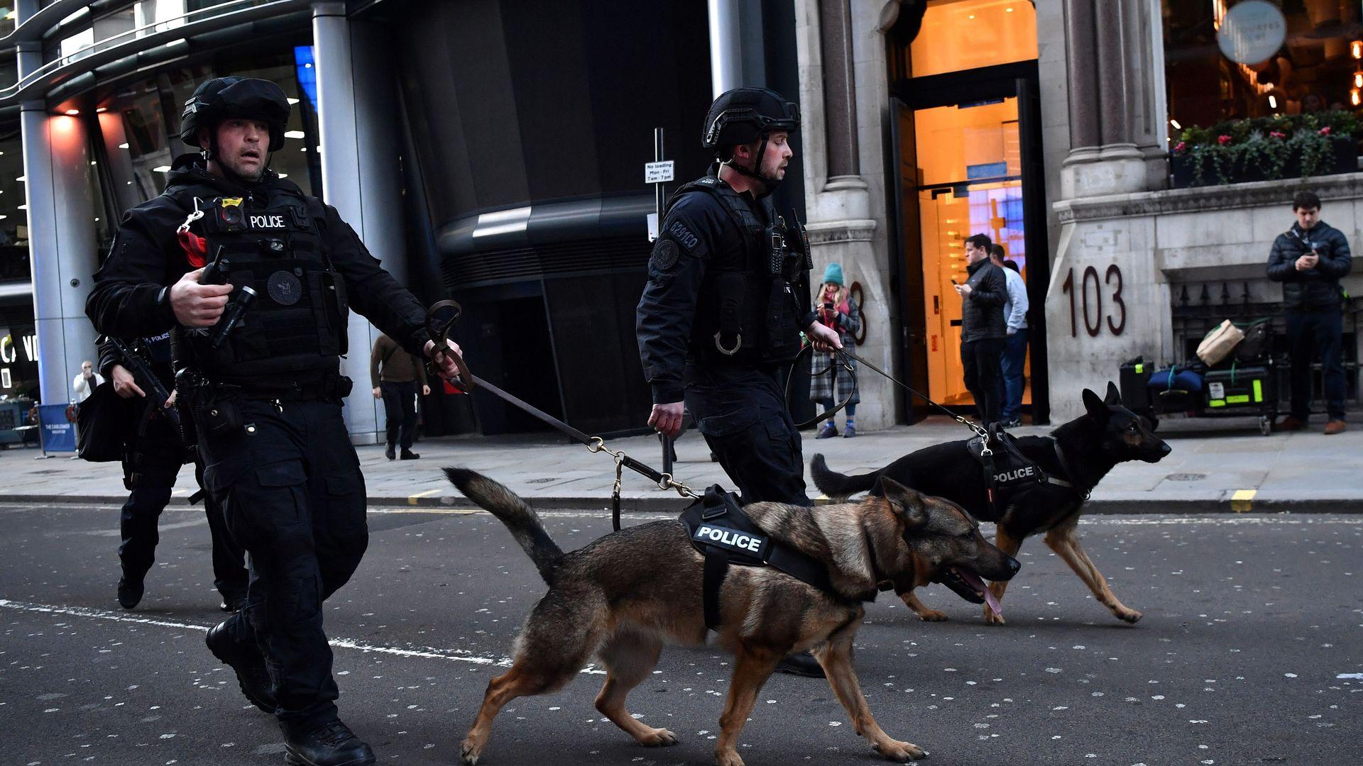 Armed police respond to a stabbing near London Bridge
