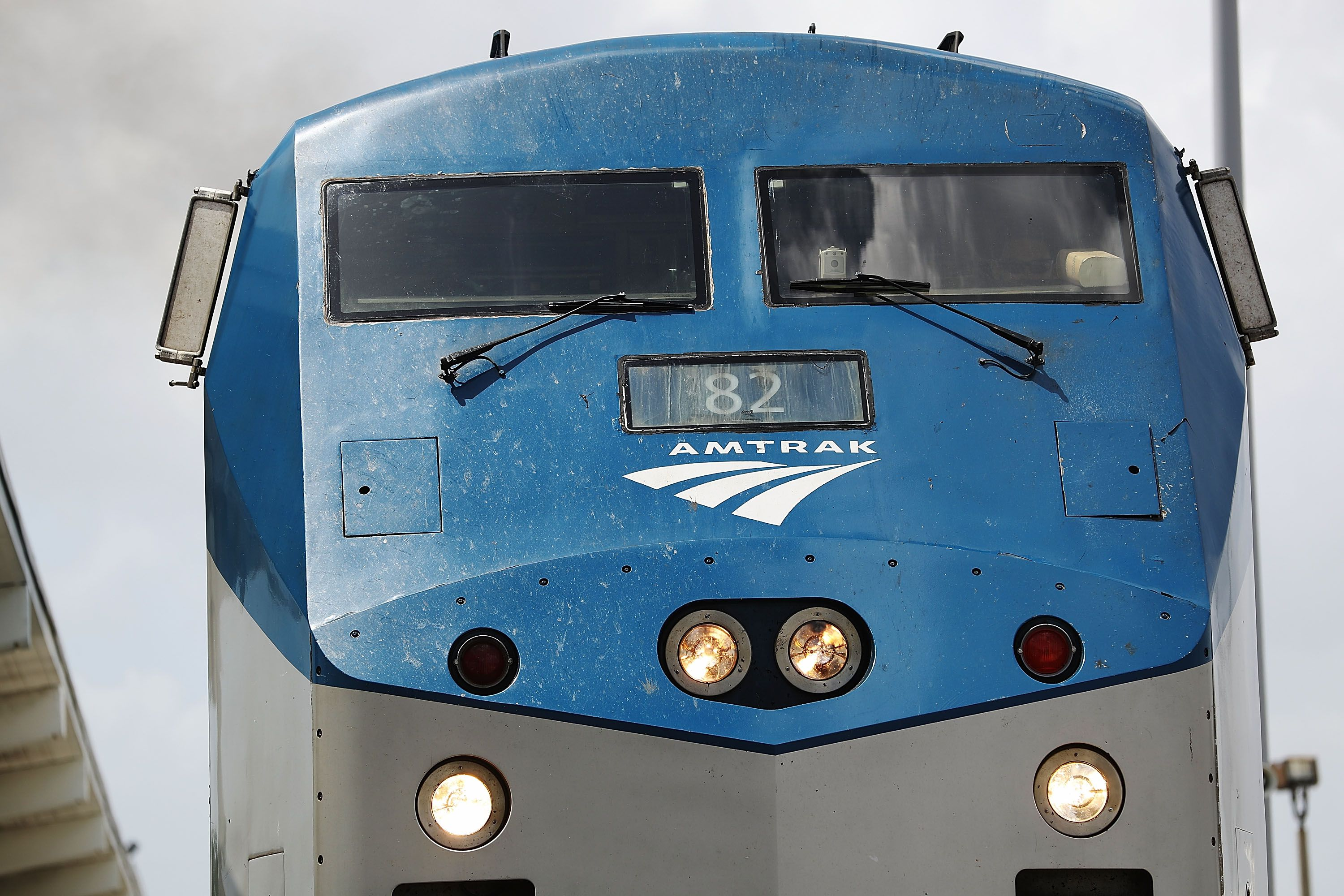 Amtrak train and tractor-trailer collide in Maryland