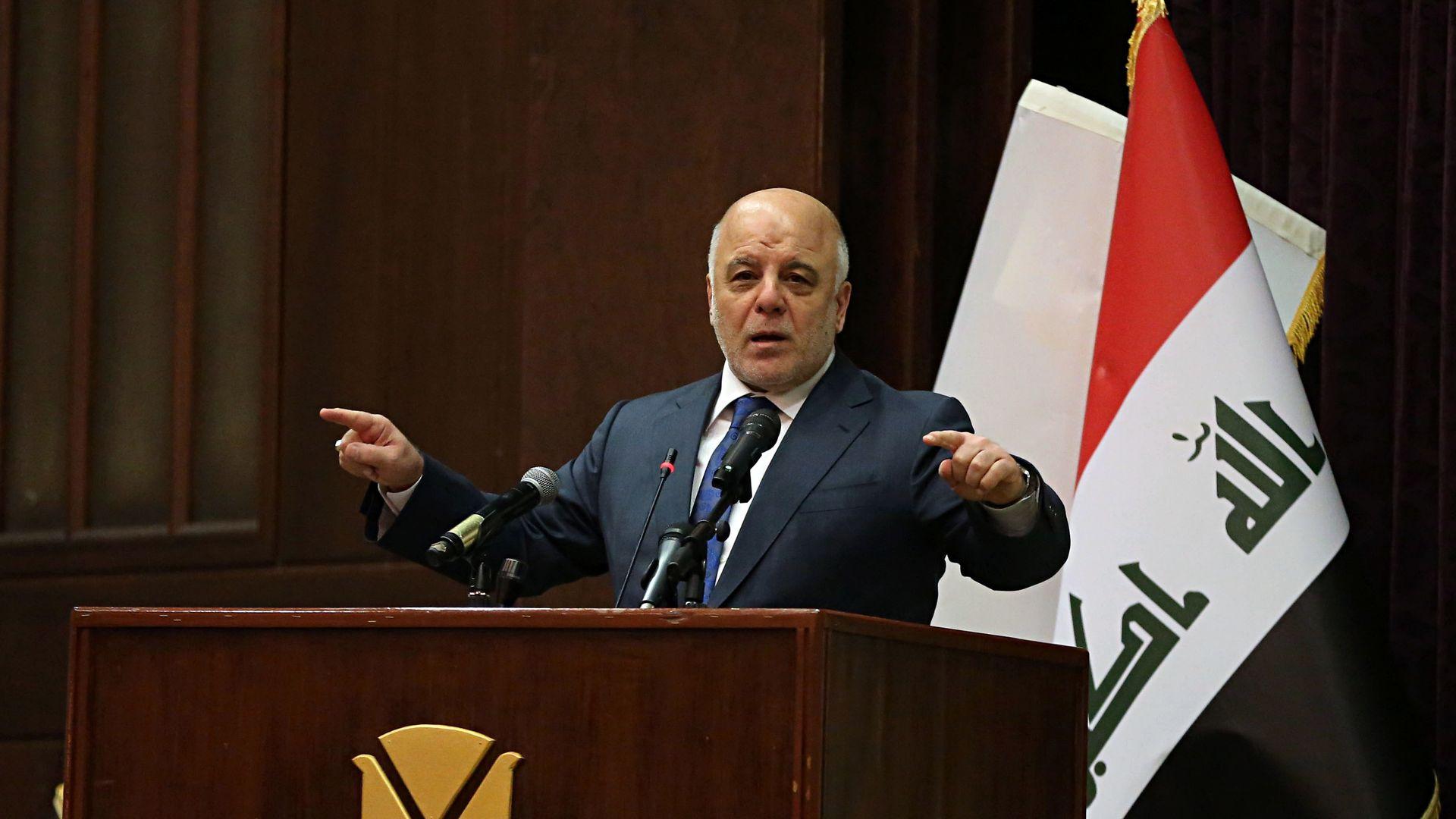 Iraq Prime Minister Haider al-Abadi.