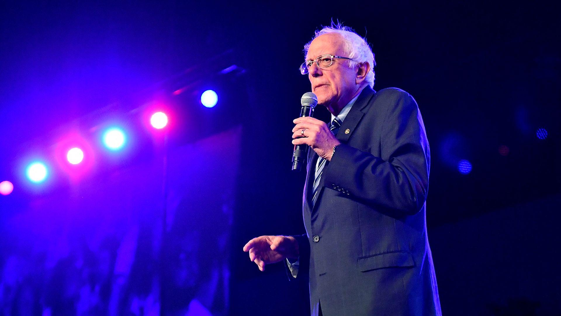 Bernie Sanders on stage