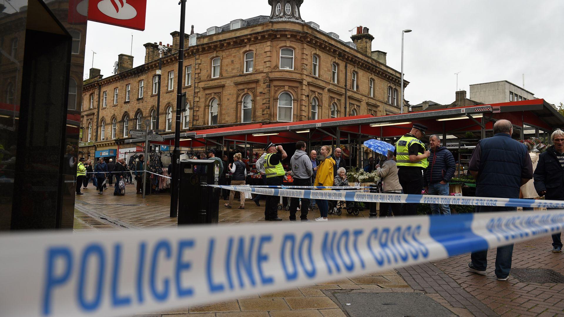 Crime scene in London