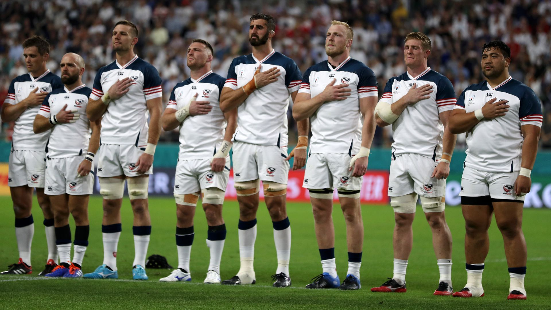 The U.S. rugby team.