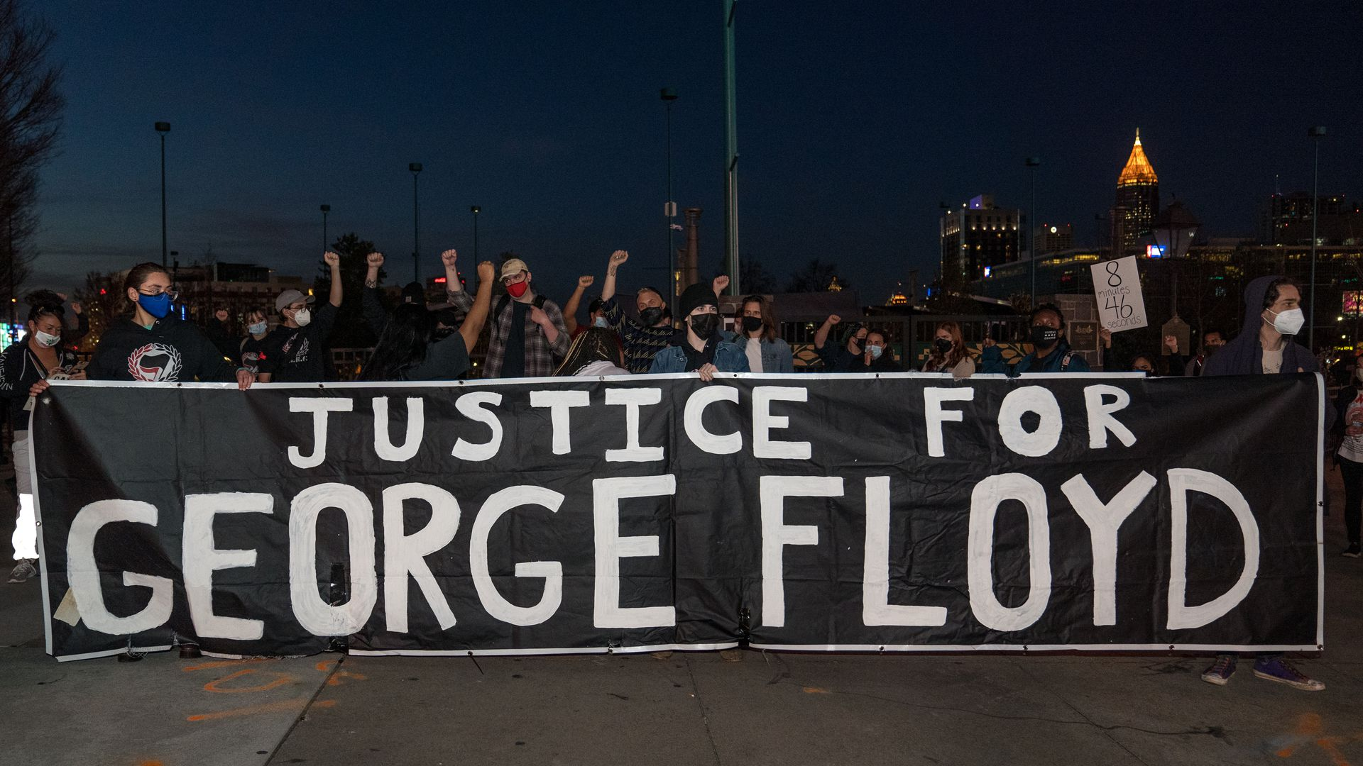 Justice for George Floyd sign