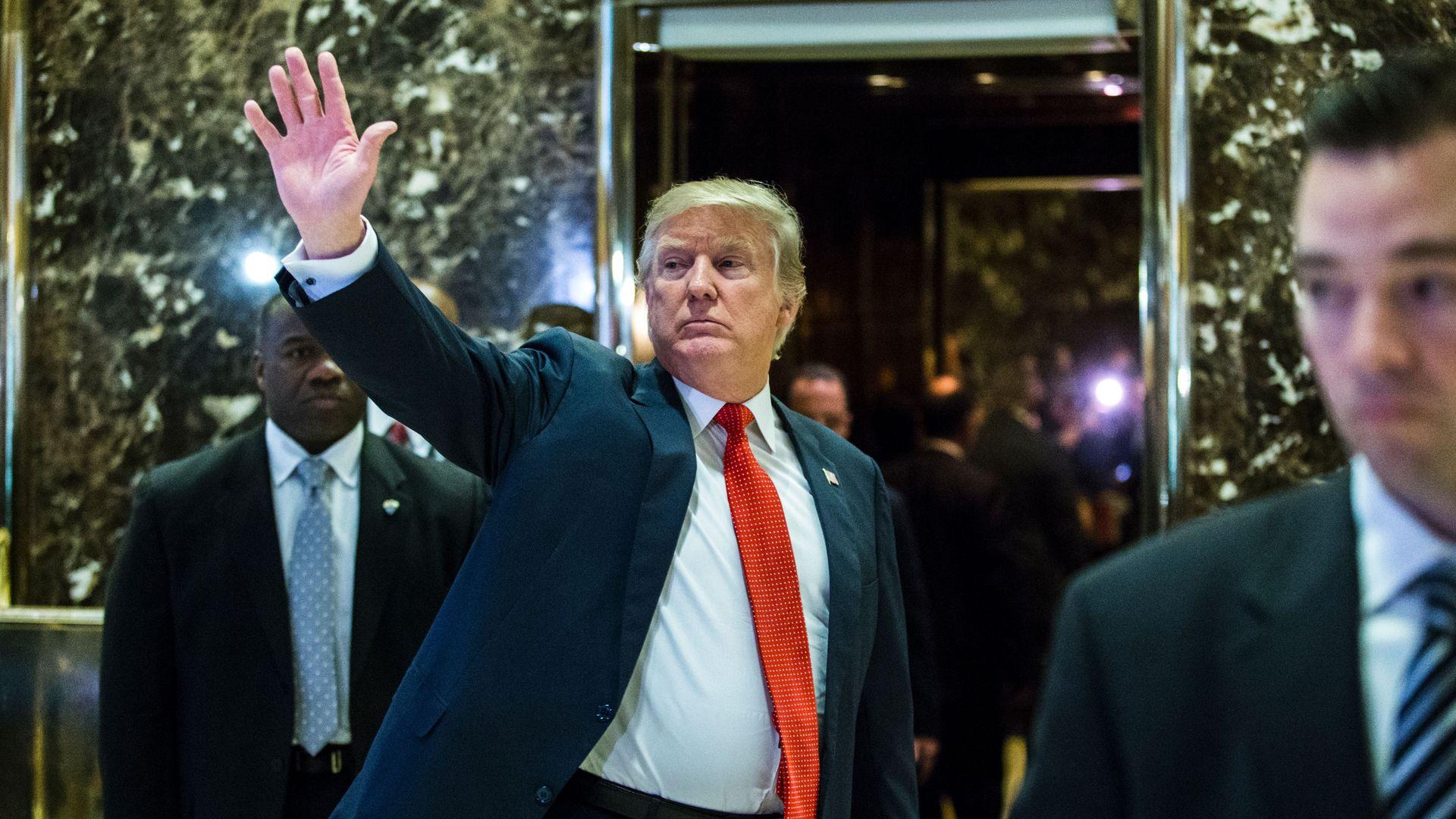 Trump at Trump Tower