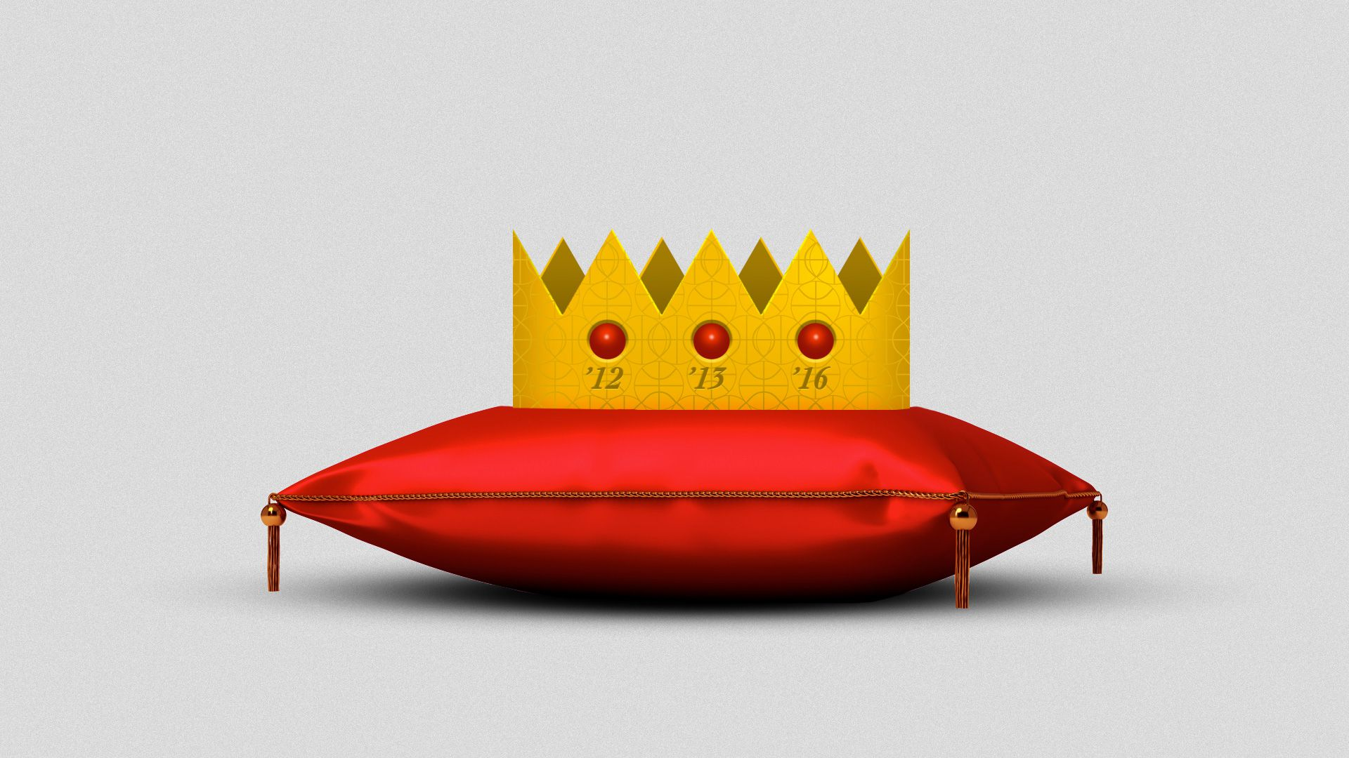 LeBron's crown on a pillow
