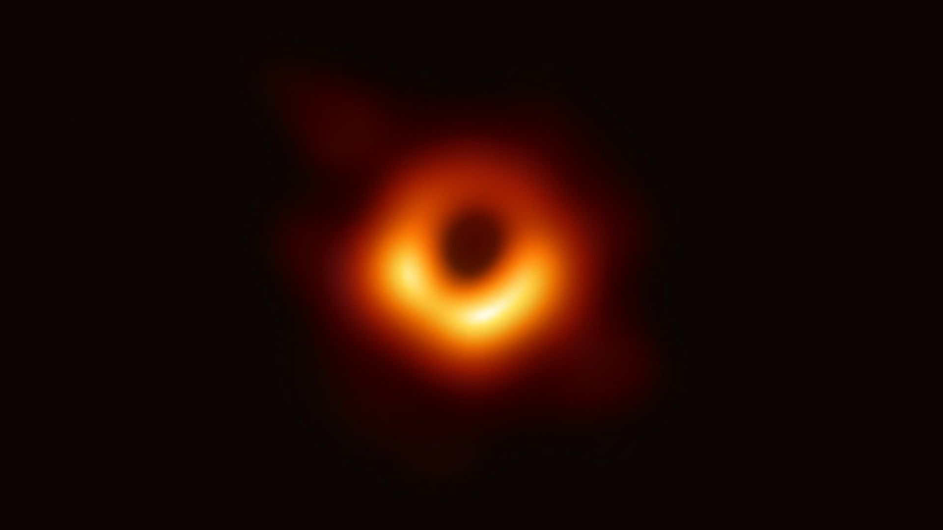 The first photo of a black hole.