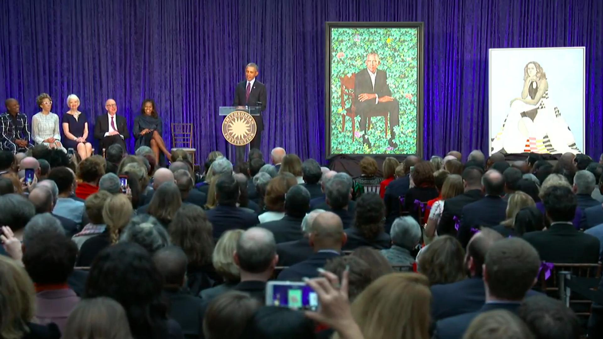 Obama at portrait unveiling