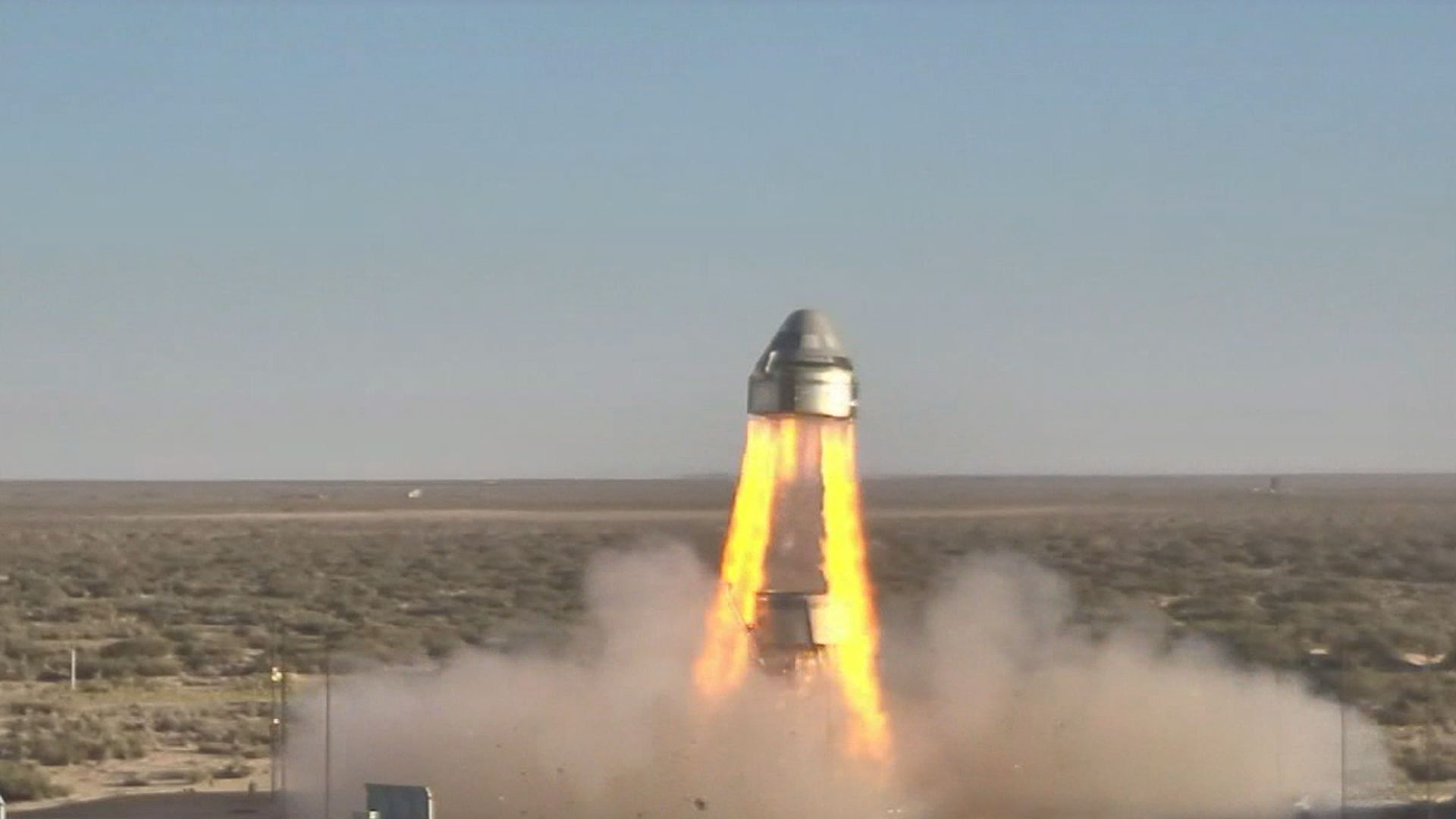 Boeing's Starliner during a test of its abort system in New Mexico
