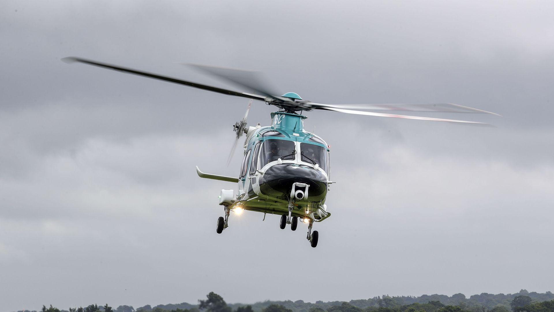 Air ambulance flying
